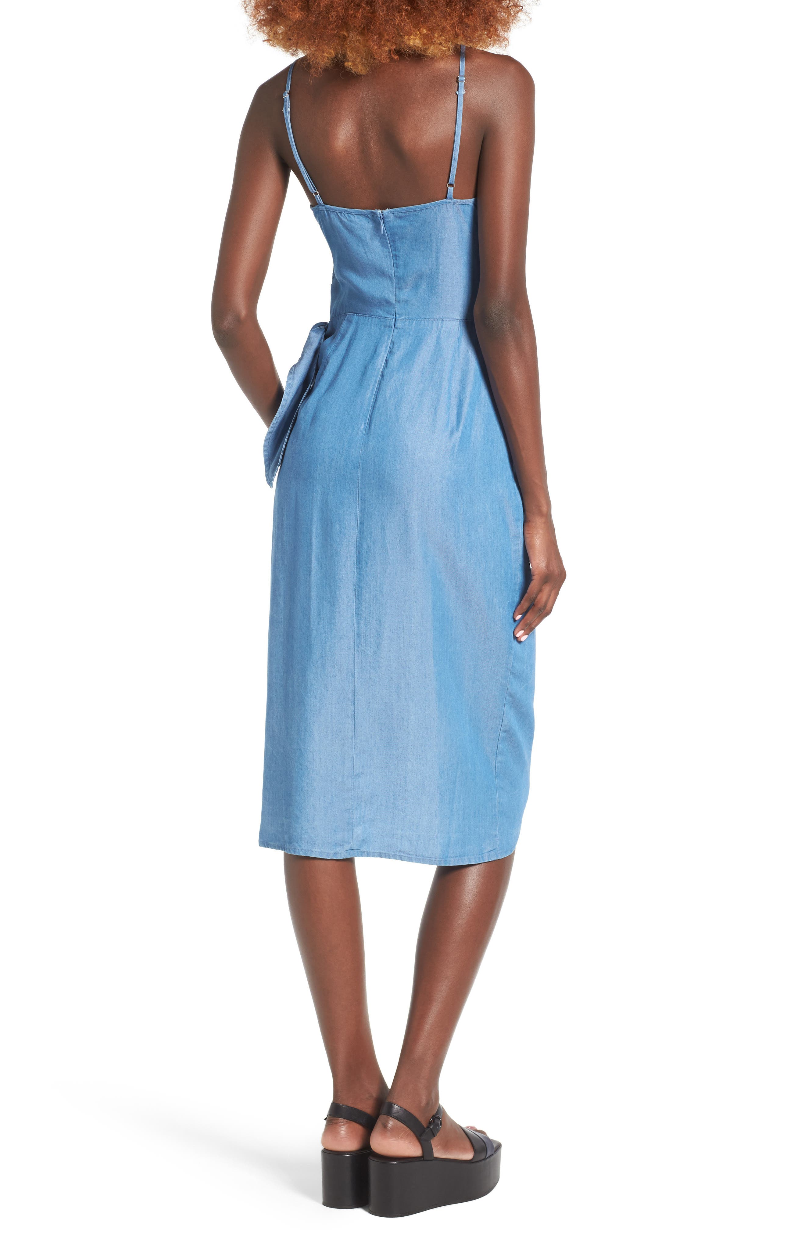 Orchid Chambray Wrap Dress,                             Alternate thumbnail 2, color,                             400