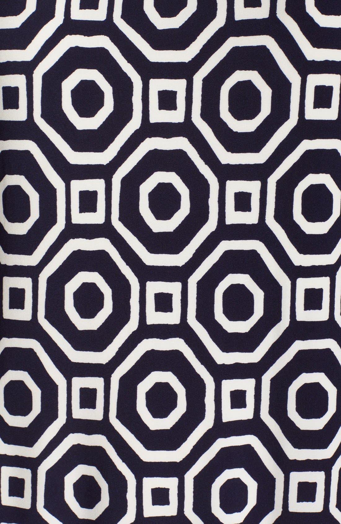 Print Jersey Shift Dress,                             Alternate thumbnail 4, color,                             410