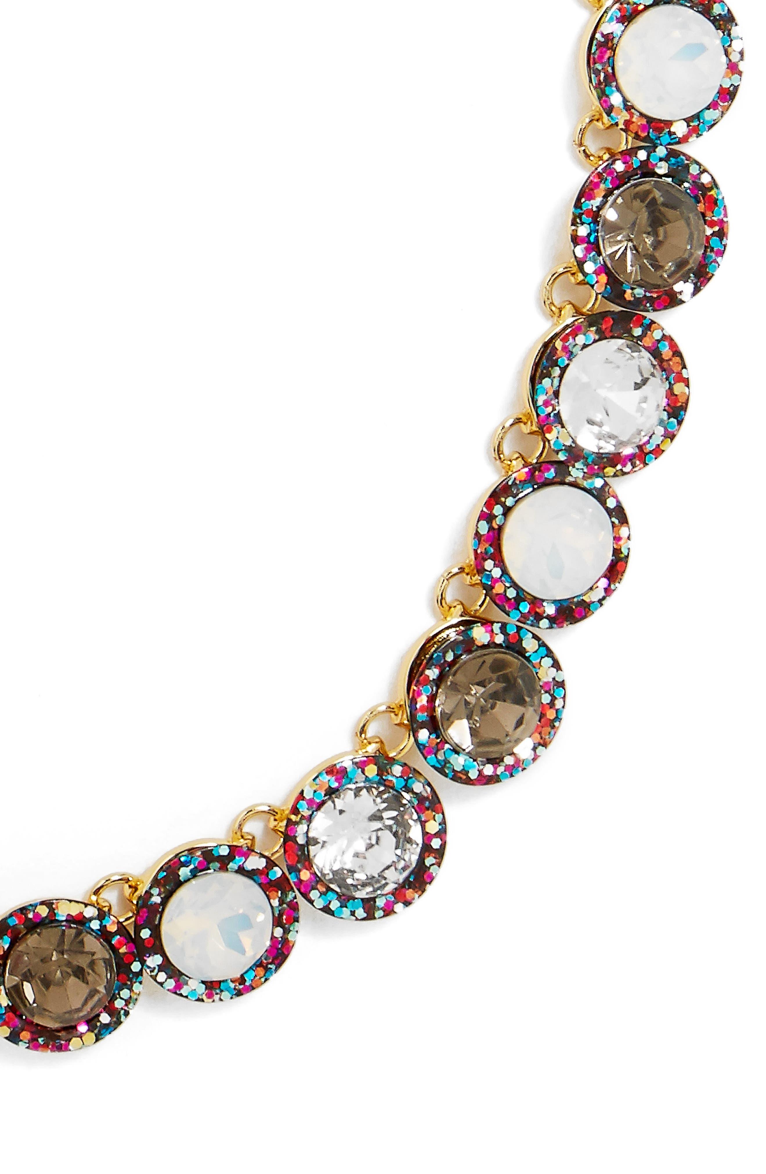 Jewel Collar Necklace,                             Alternate thumbnail 3, color,                             001