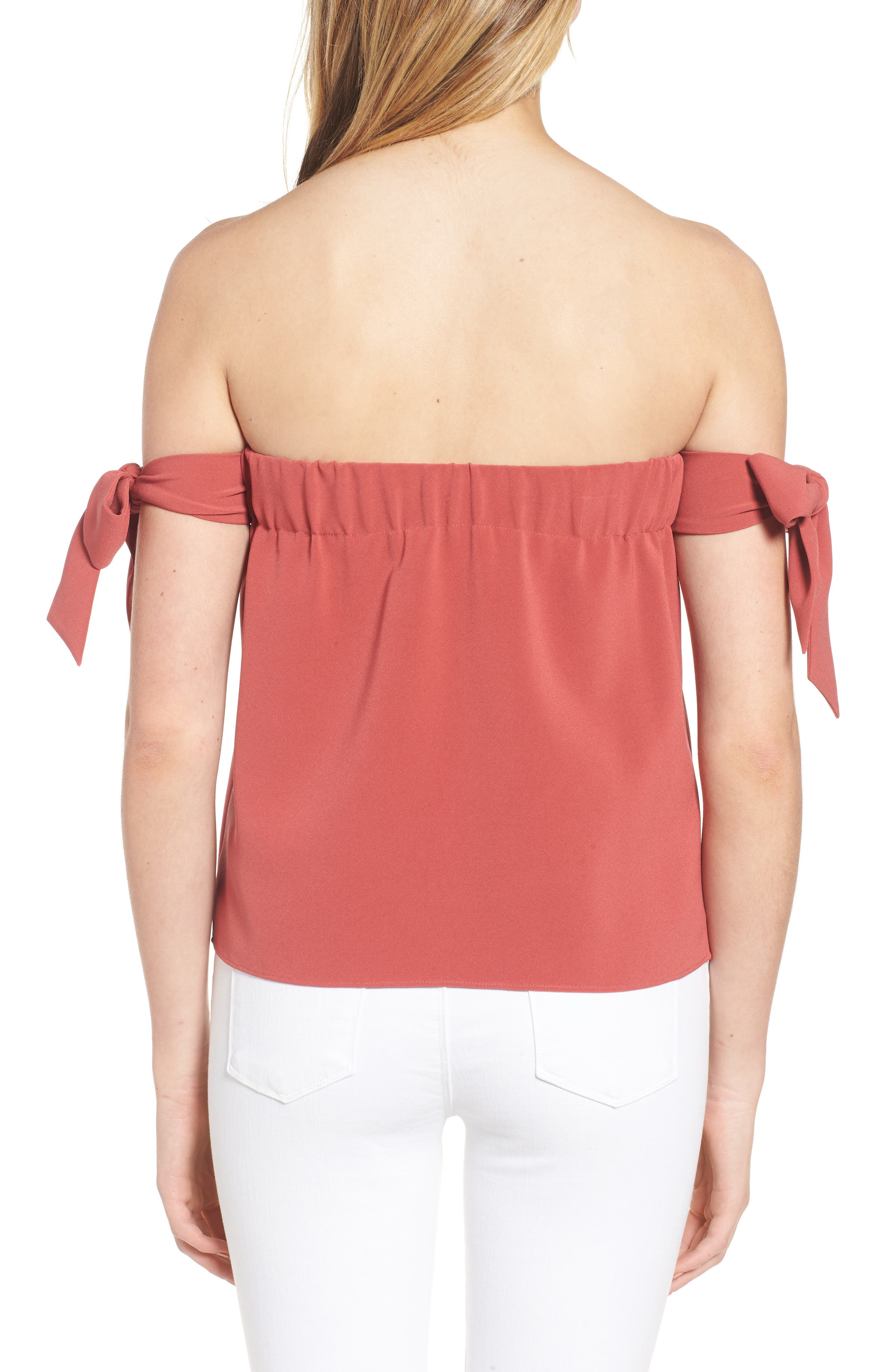Lova Bow Off the Shoulder Top,                             Alternate thumbnail 2, color,                             604