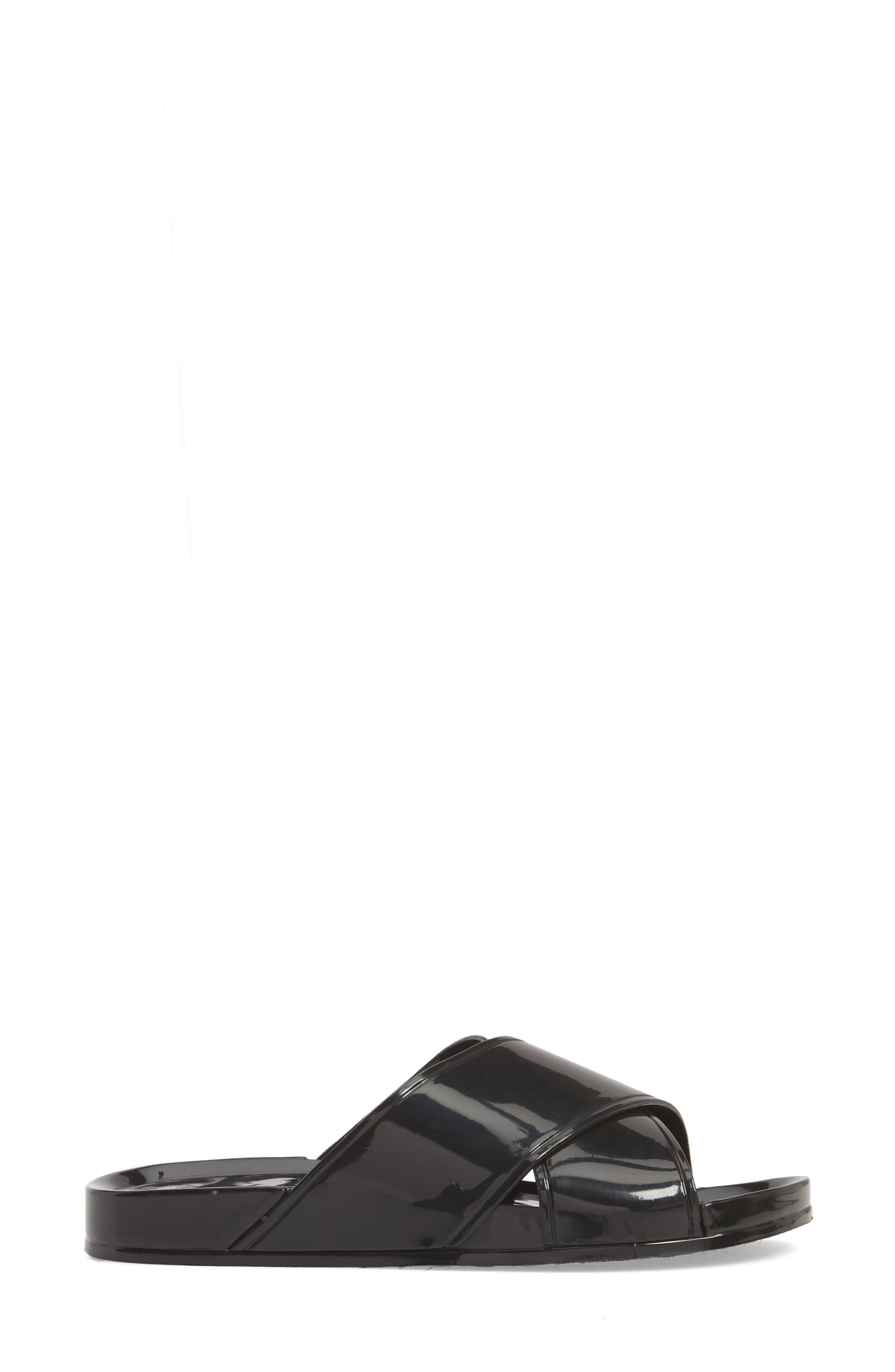 Roxy Jelly Slide Sandal,                             Alternate thumbnail 3, color,                             001