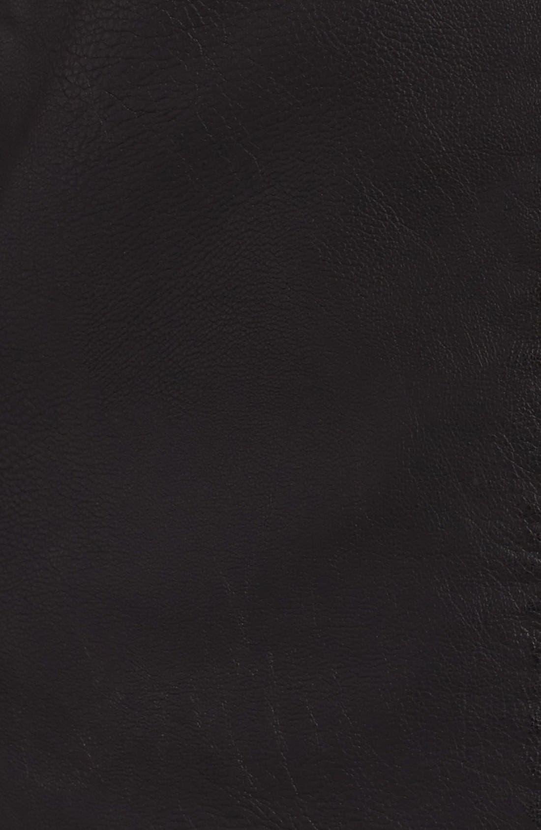 Faux Leather Moto Jacket,                             Alternate thumbnail 7, color,
