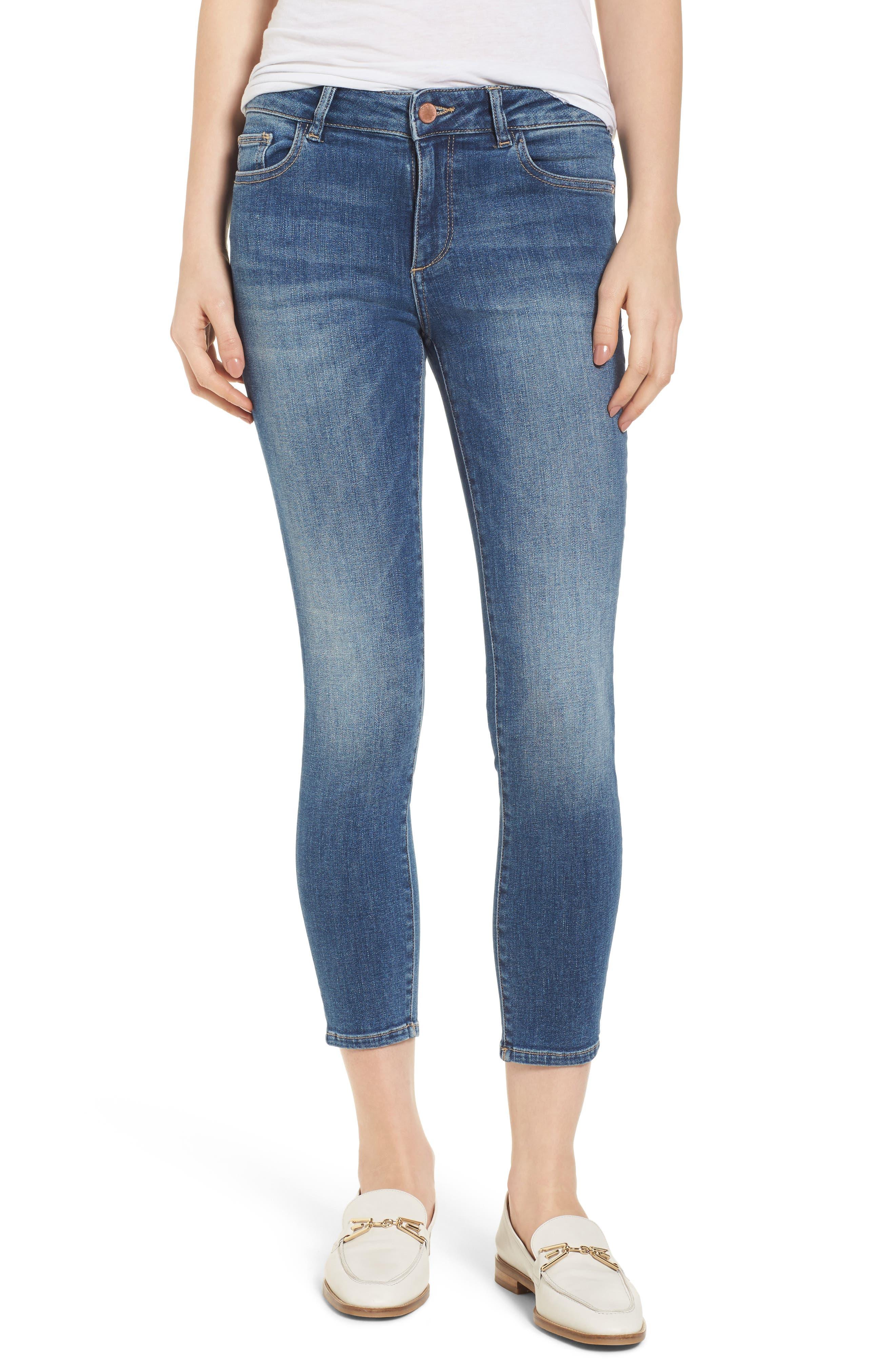 Florence Instasculpt Crop Skinny Jeans,                         Main,                         color, EVERGLADE