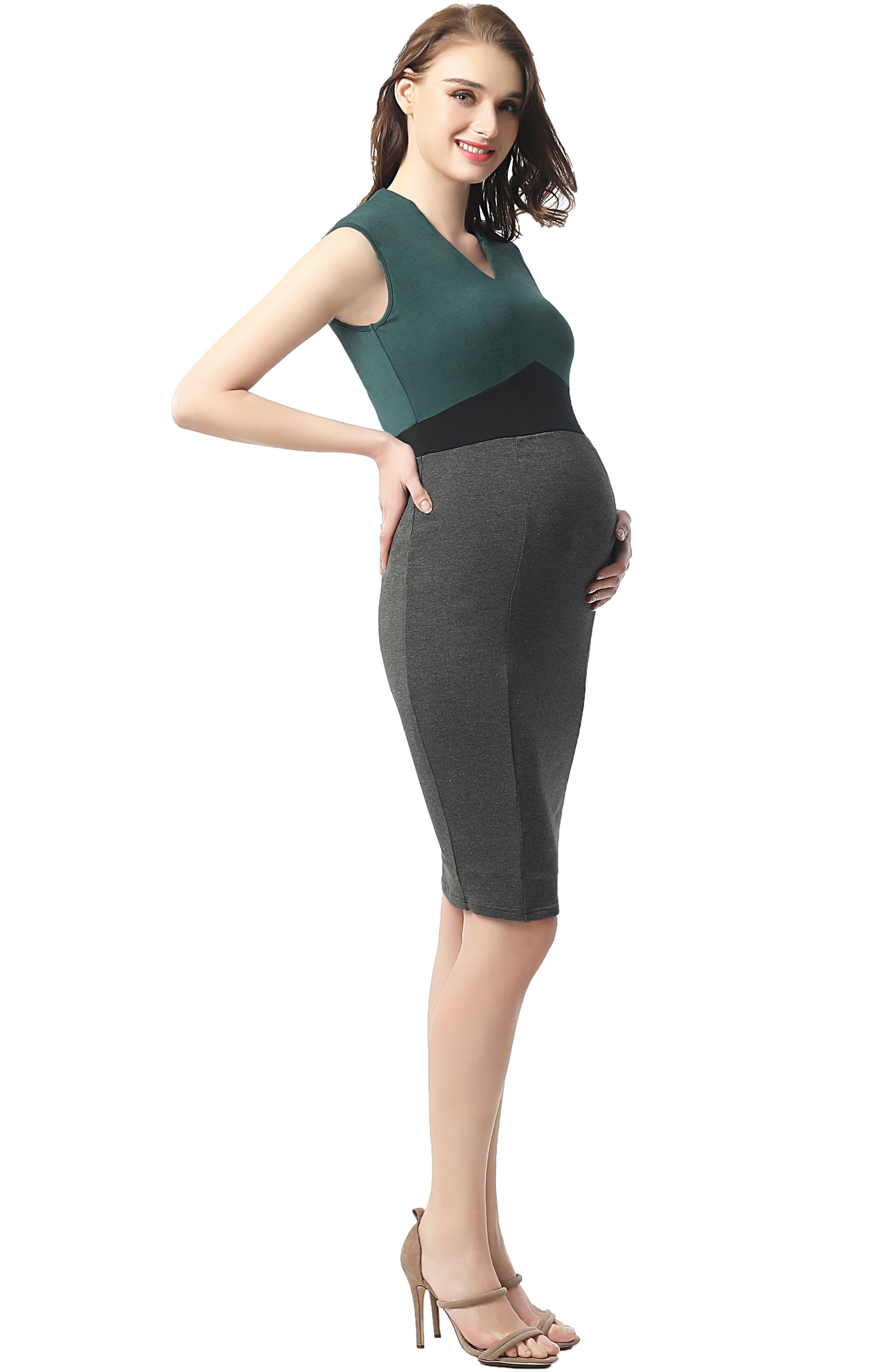 Jessie Maternity Body-Con Dress,                             Alternate thumbnail 3, color,                             MULTICOLORED