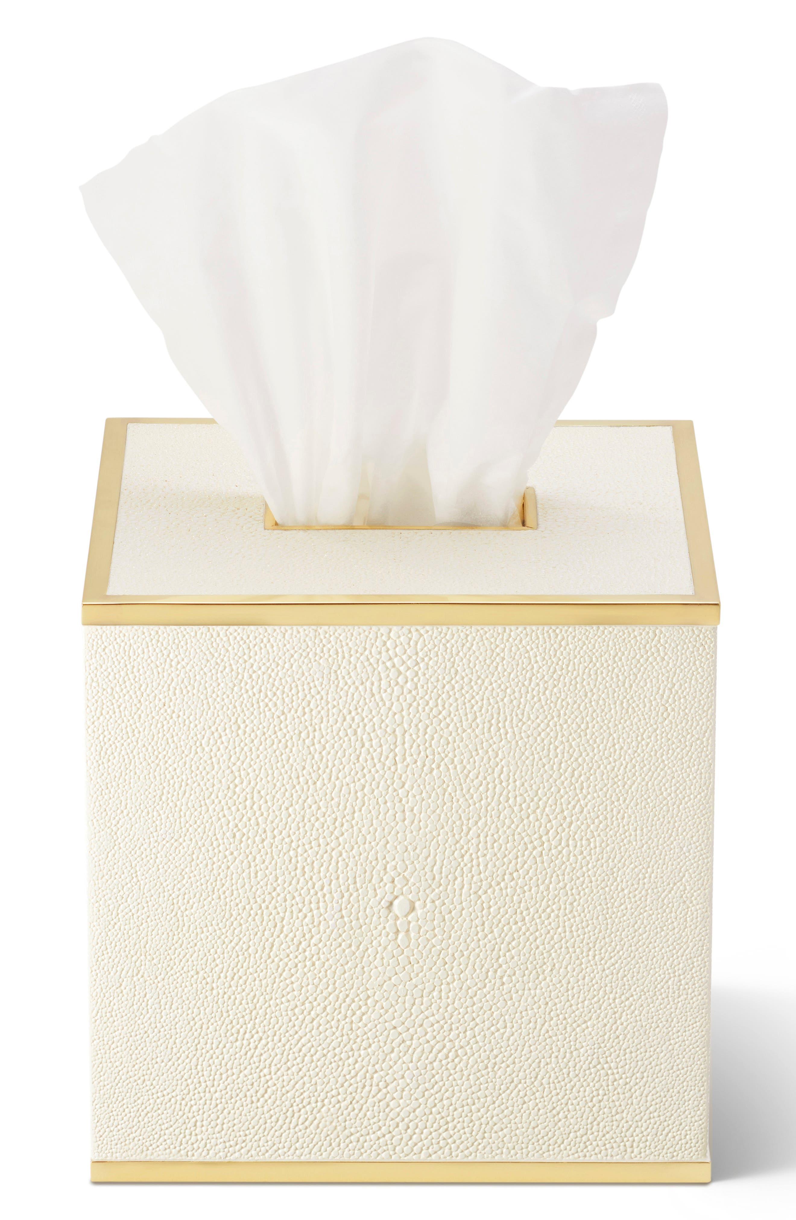 AERIN,                             Shagreen Tissue Box,                             Alternate thumbnail 2, color,                             CREAM