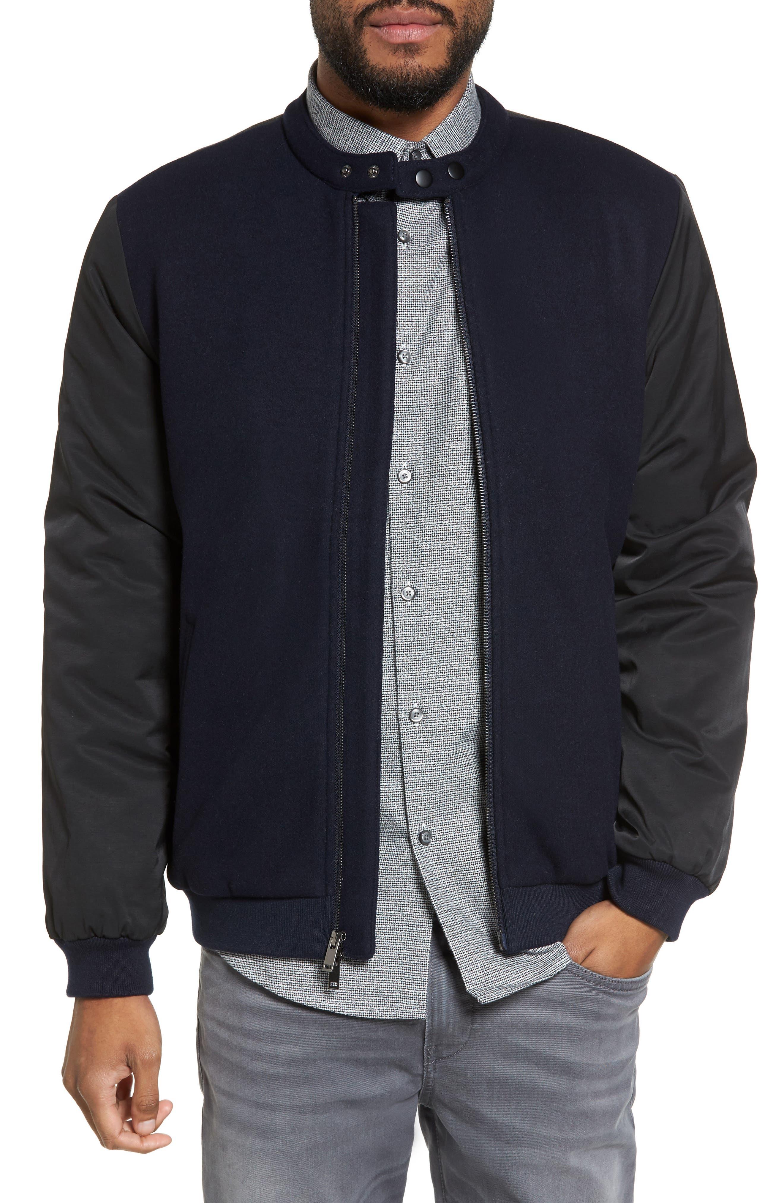 Mixed Media Bomber Jacket,                         Main,                         color,