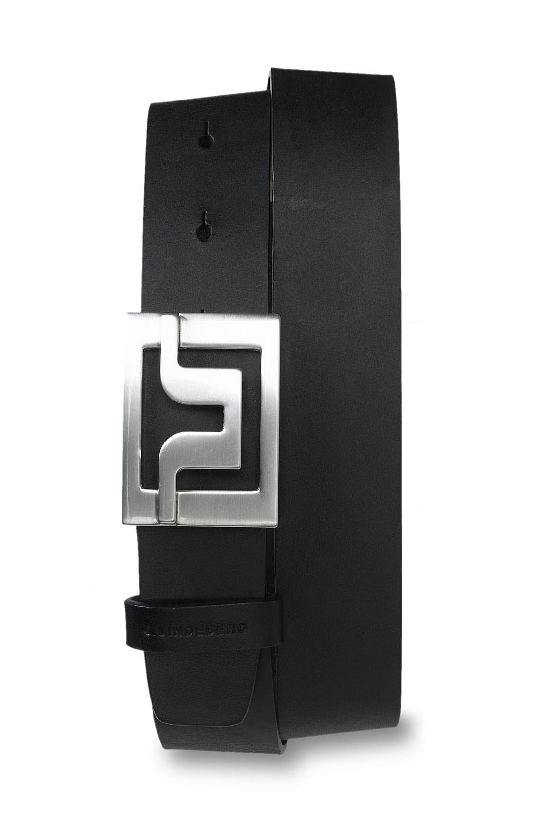 Golf 'Slater 40' Leather Belt,                             Main thumbnail 1, color,                             001