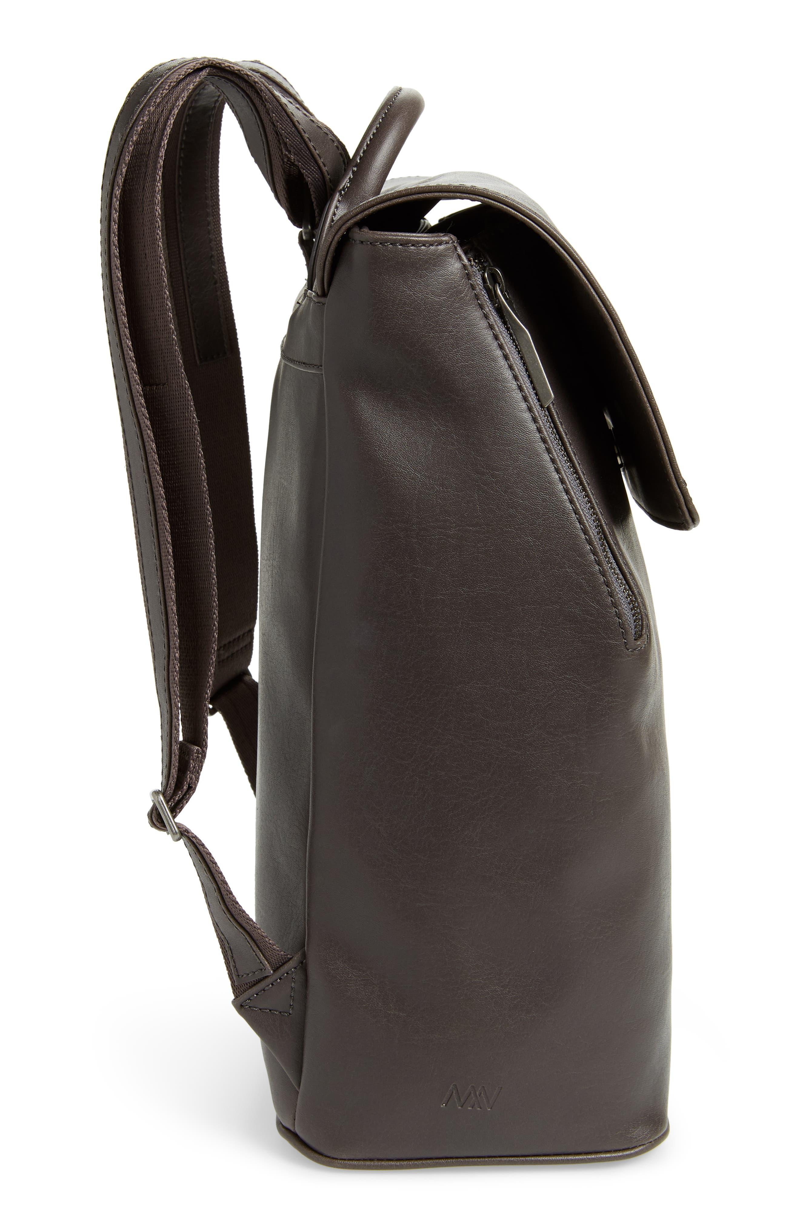 MATT & NAT,                             'Fabi' Faux Leather Laptop Backpack,                             Alternate thumbnail 5, color,                             NO_COLOR