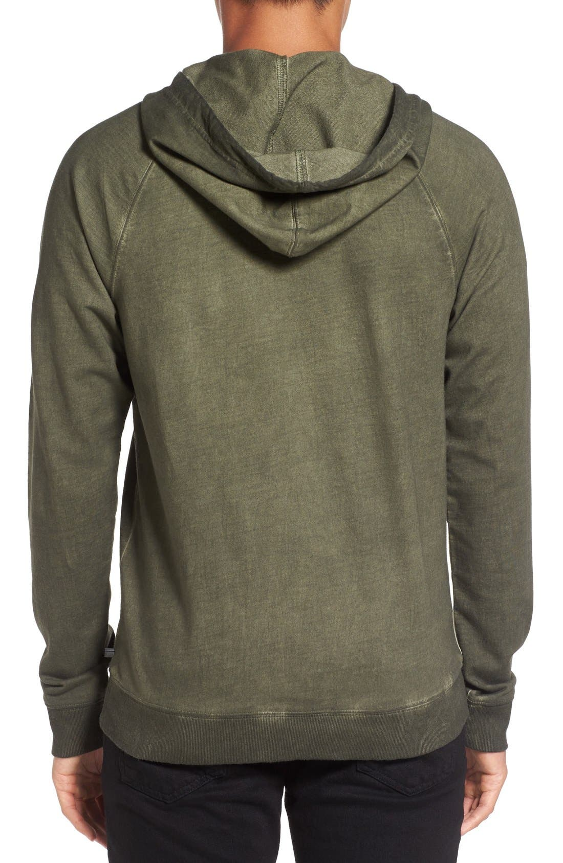 Faded Henley Hoodie,                             Alternate thumbnail 5, color,