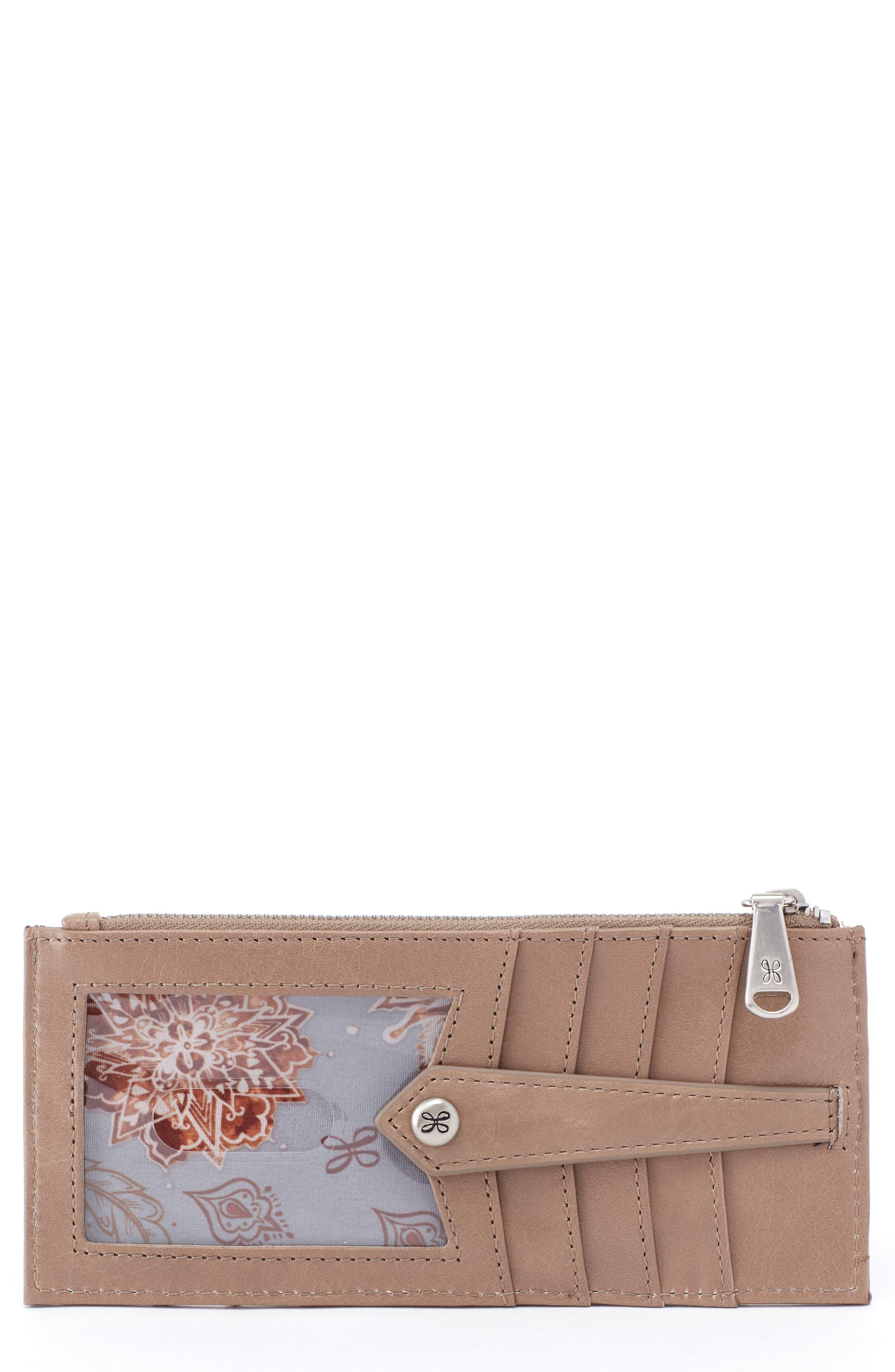 HOBO Linn Card Case, Main, color, COBBLESTONE