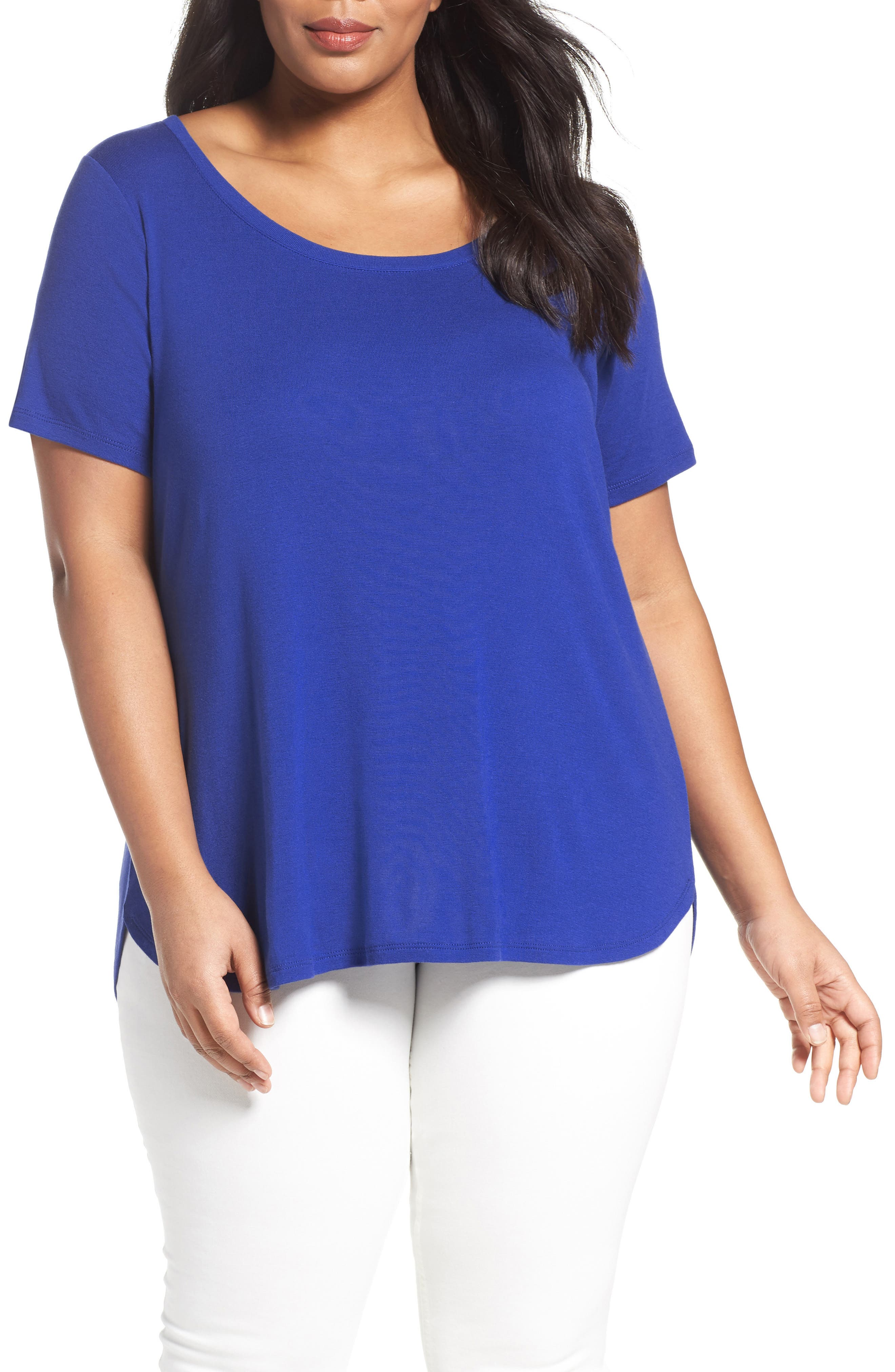 Scoop Neck Tee,                             Main thumbnail 3, color,