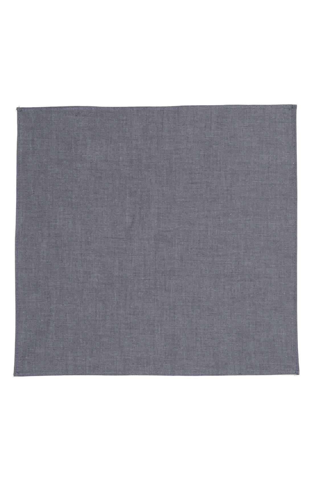 Chambray Pocket Square,                             Alternate thumbnail 4, color,                             420