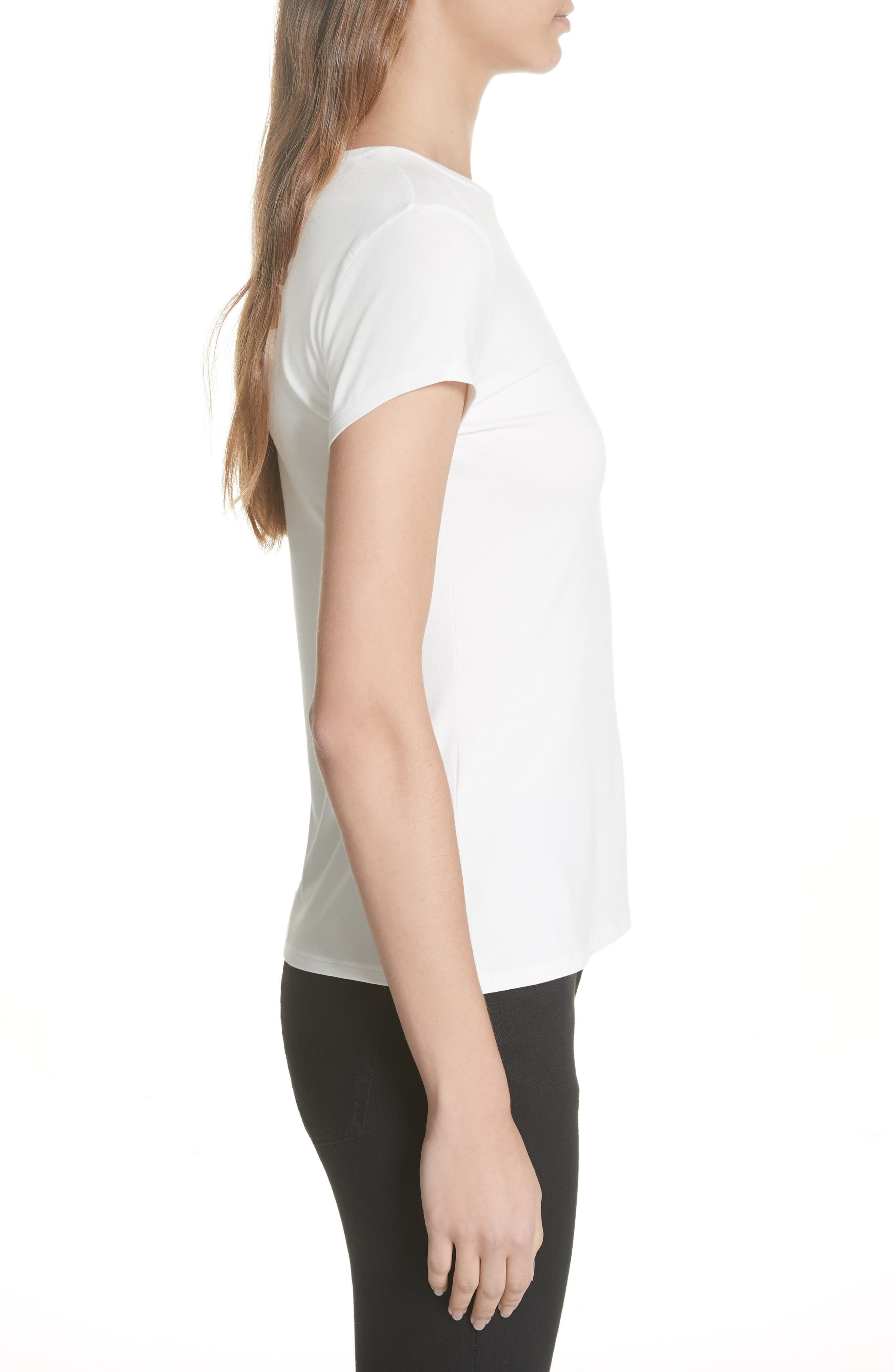 Laylar Kirstenbosch Embroidered Tee,                             Alternate thumbnail 3, color,                             905