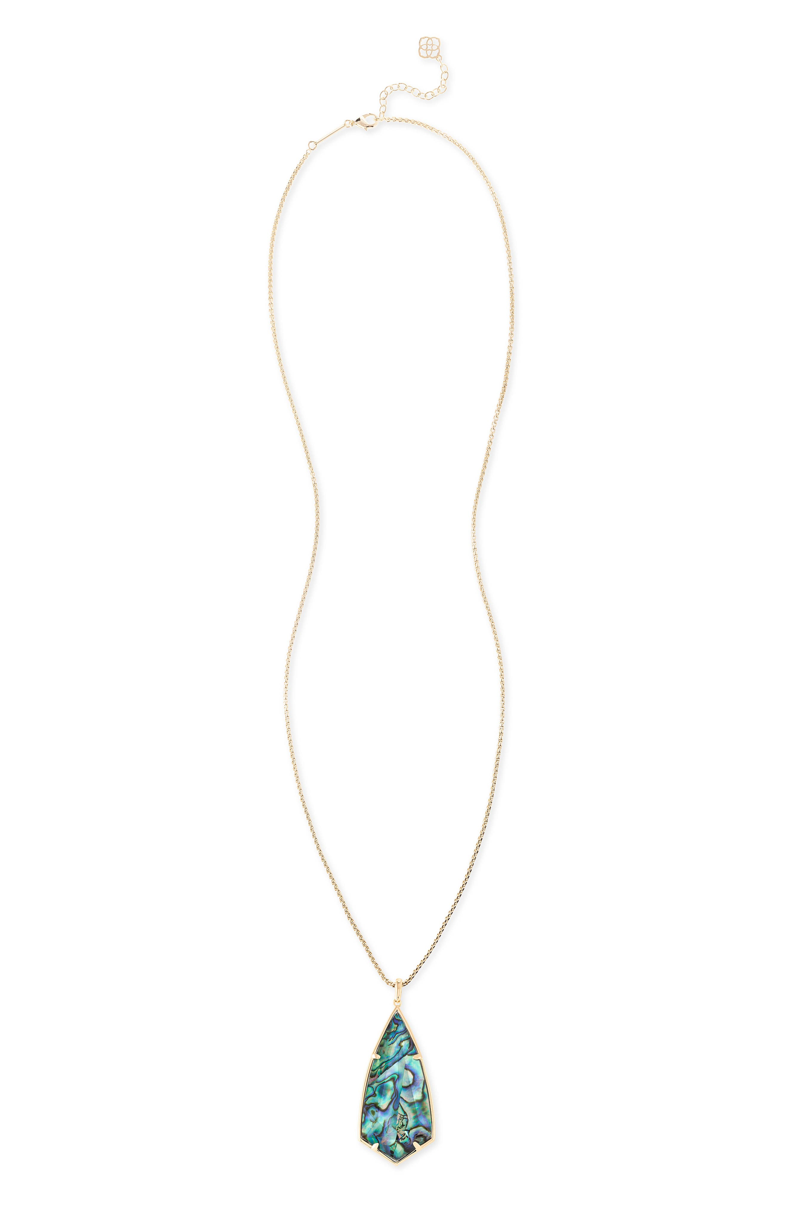 'Carole' Long Semiprecious Stone Pendant Necklace,                             Alternate thumbnail 42, color,