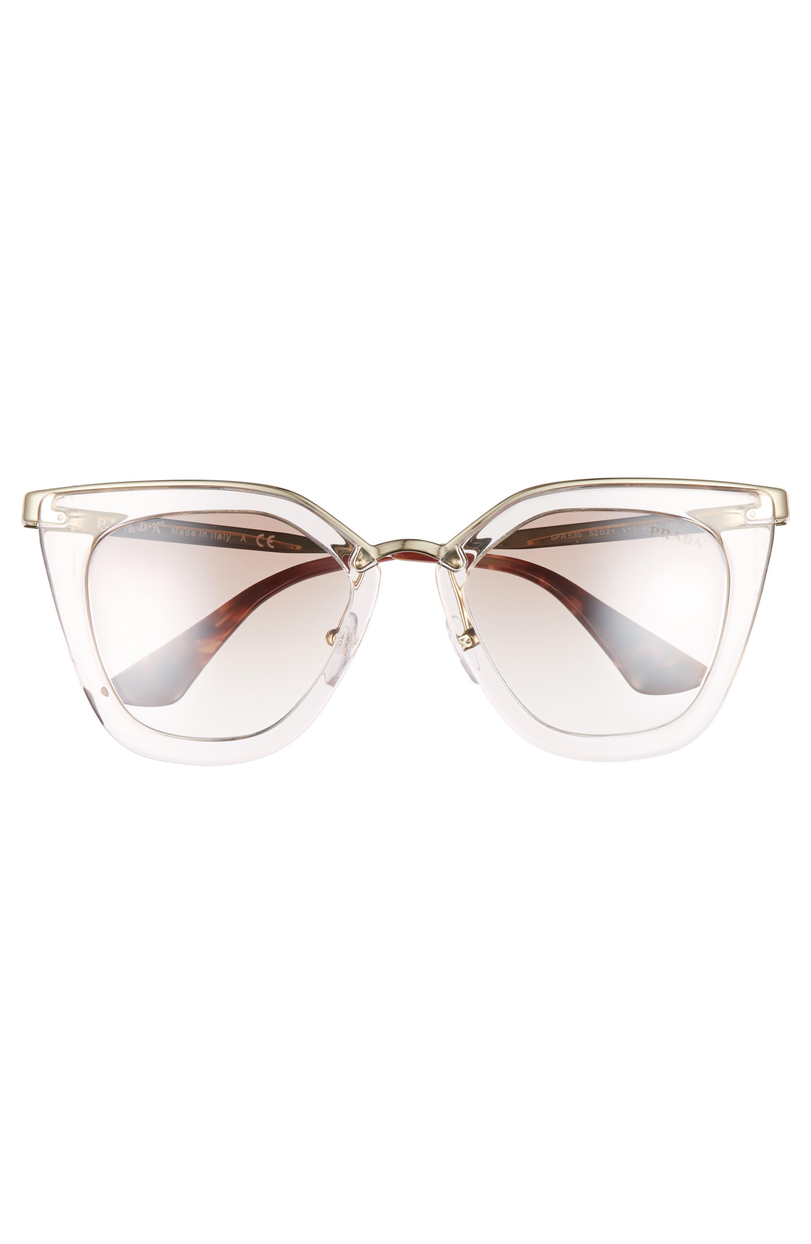 52mm Retro Sunglasses,                             Alternate thumbnail 4, color,                             200