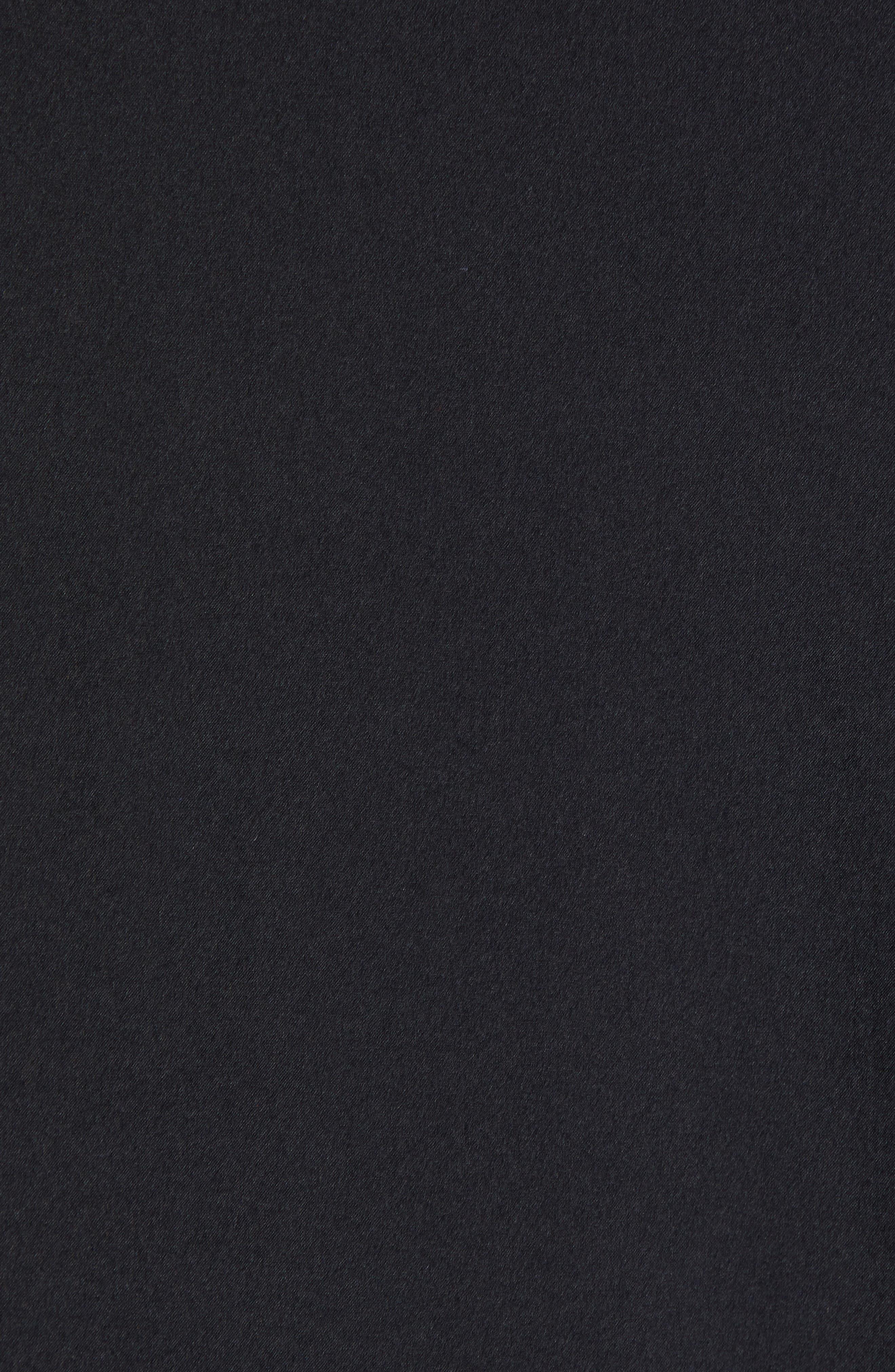 Response Hybrid Overknit Quarter Zip Pullover,                             Alternate thumbnail 7, color,                             BLACK