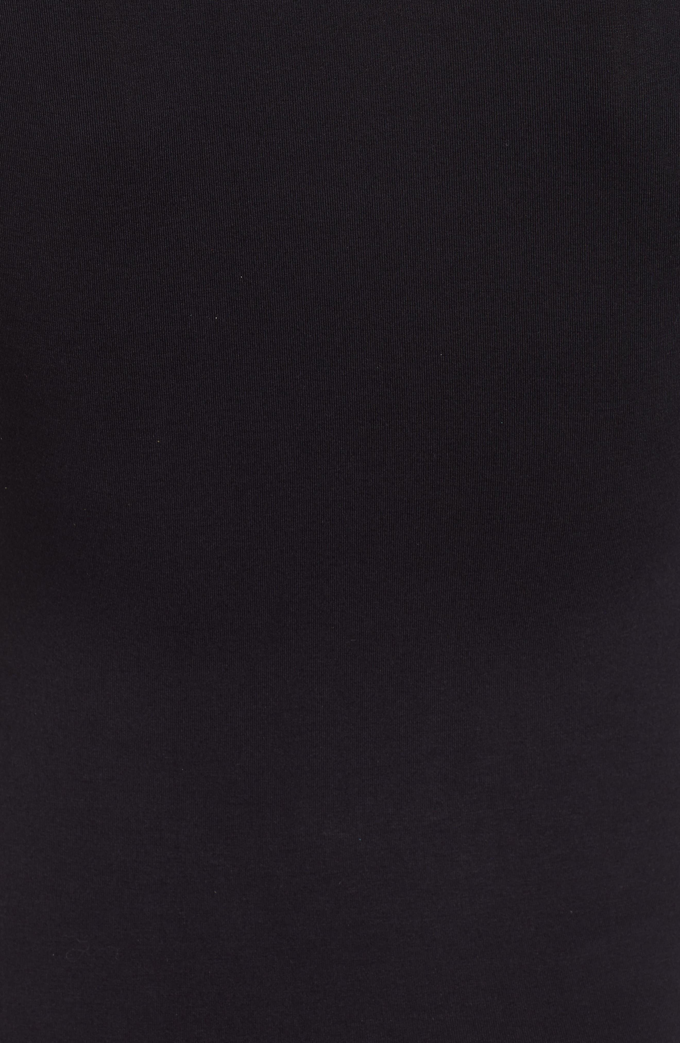 Square Neck Bodysuit,                             Alternate thumbnail 5, color,                             BLACK
