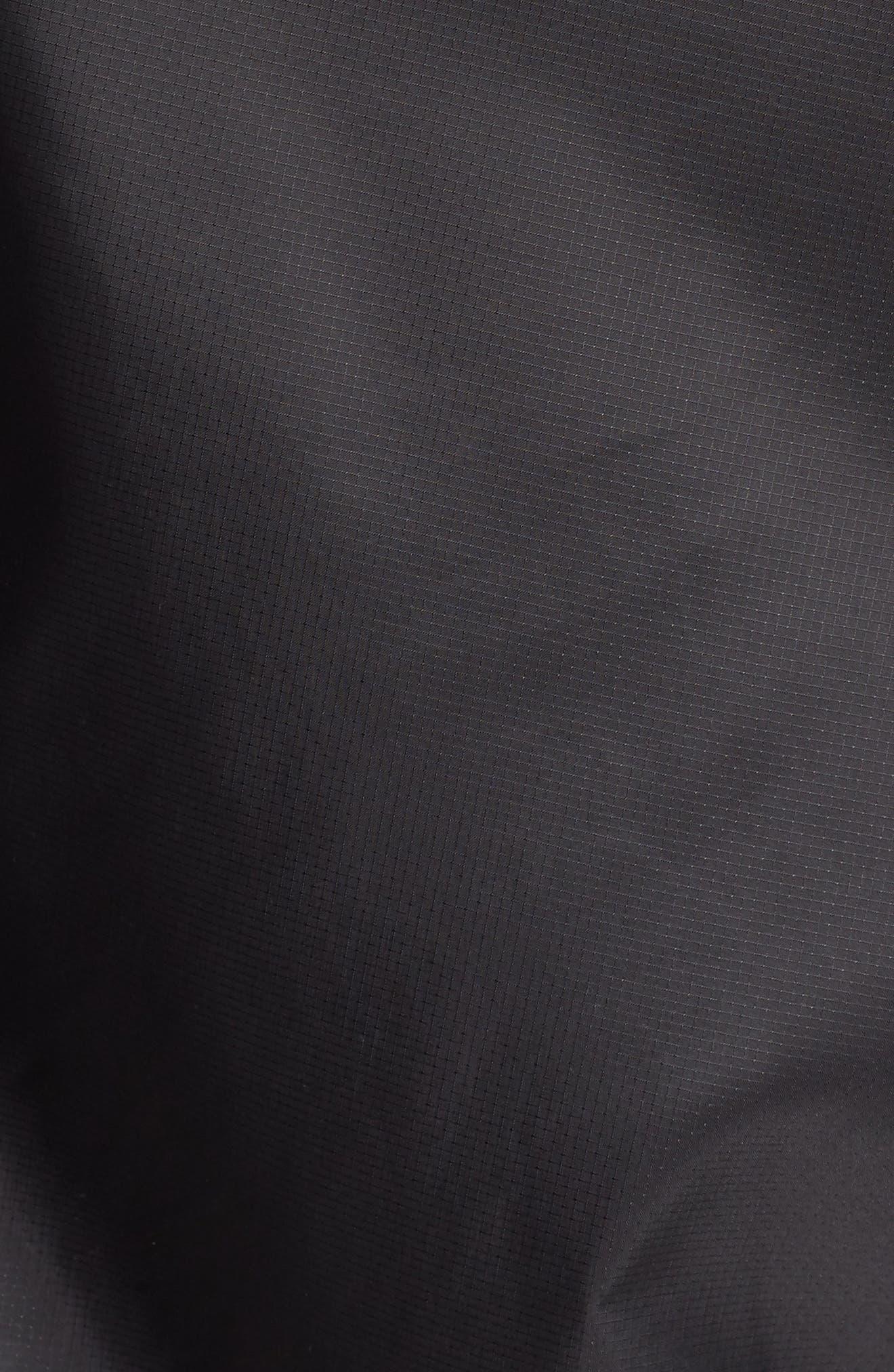 3-Stripes Zip Windbreaker,                             Alternate thumbnail 6, color,                             BLACK