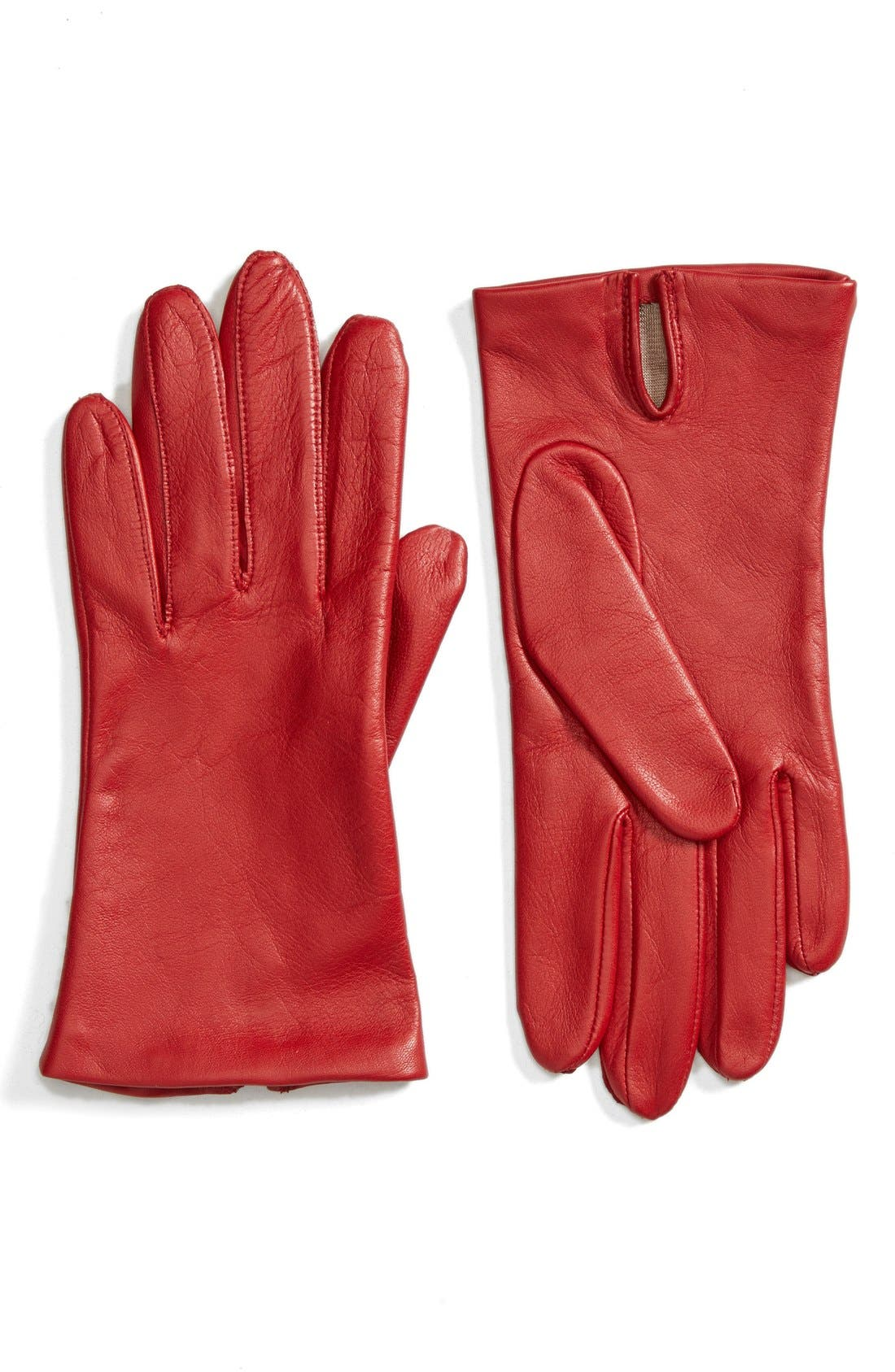Short Leather Gloves,                             Main thumbnail 5, color,