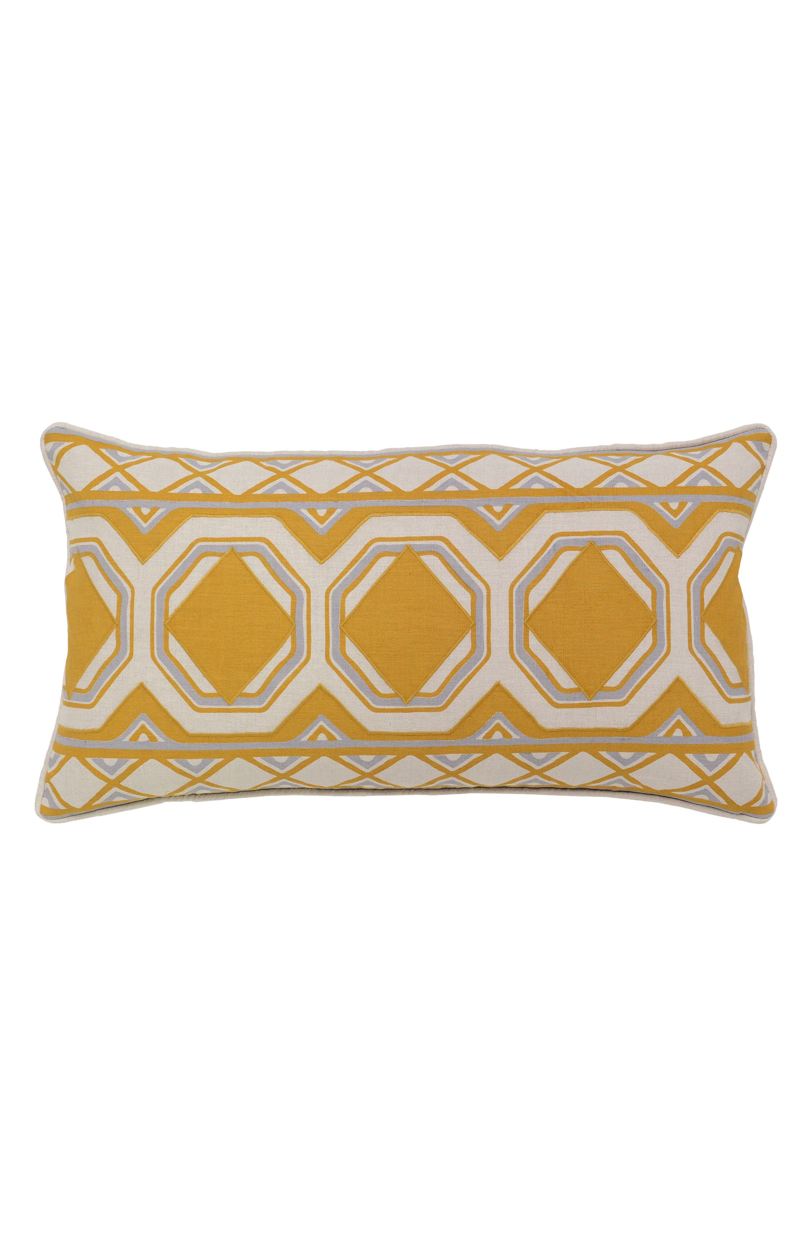 Cheval Accent Pillow,                         Main,                         color, OCHRE