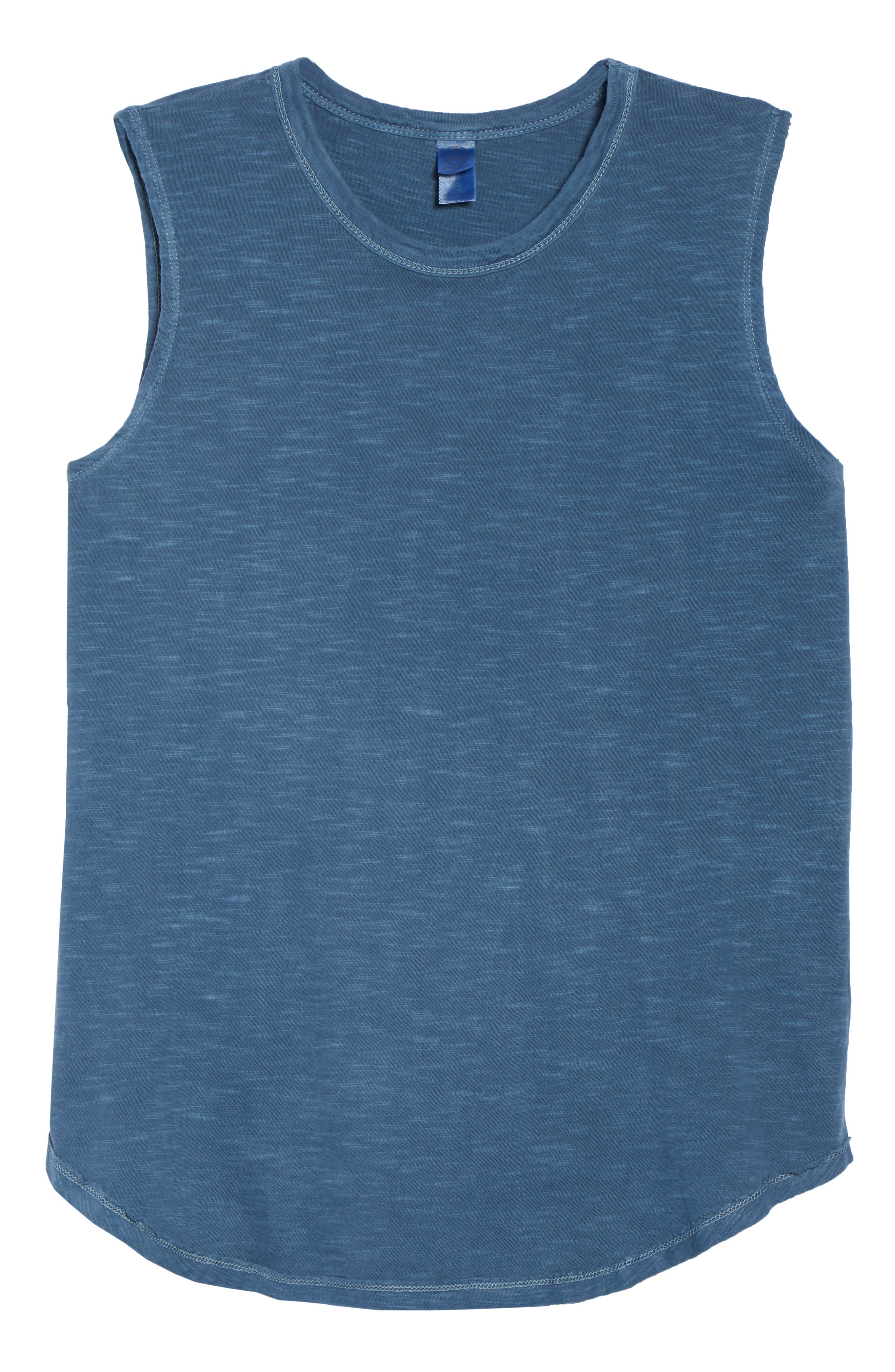 Inside Out Muscle Tee,                             Alternate thumbnail 6, color,                             MINERAL BLUE PIGMENT