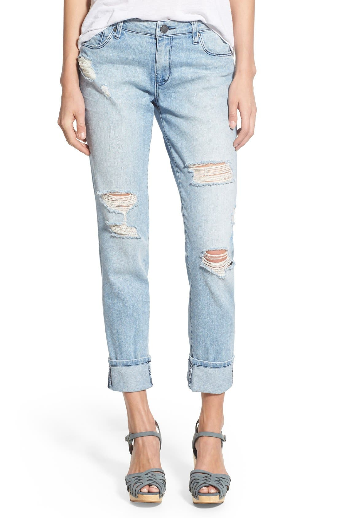 'Taylor' Distressed Jeans,                             Main thumbnail 1, color,                             404