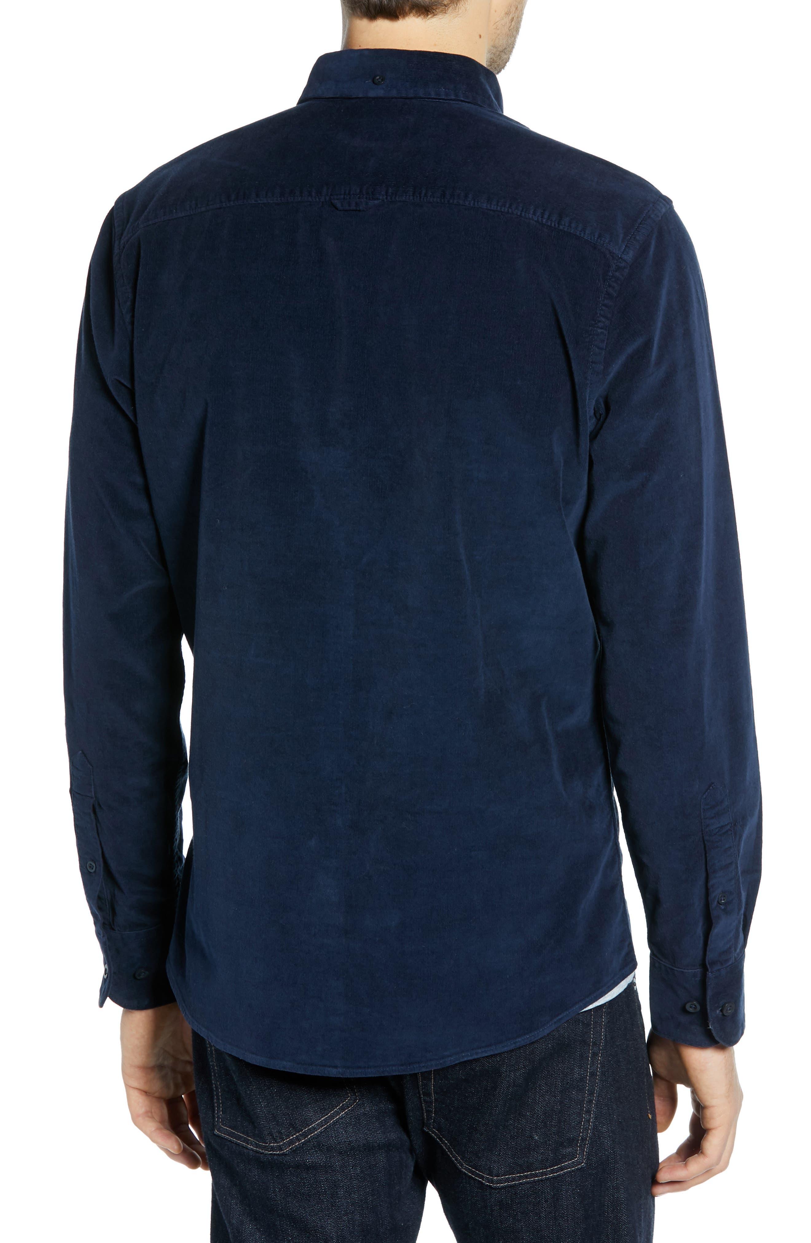 Ivy Trim Fit Corduroy Sport Shirt,                             Alternate thumbnail 2, color,                             NAVY NIGHT