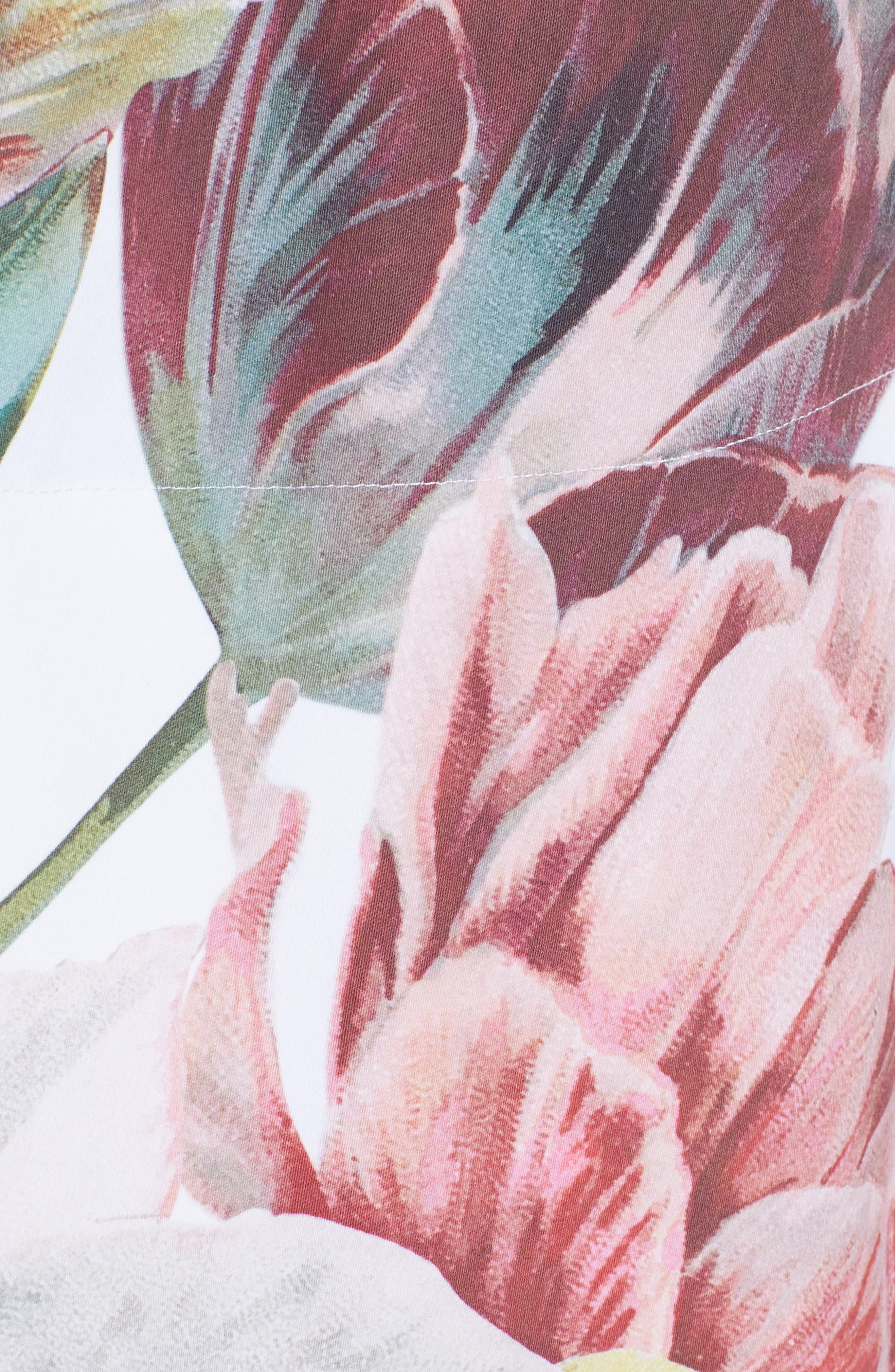 Tranquility Stretch Cotton Dress,                             Alternate thumbnail 5, color,                             110