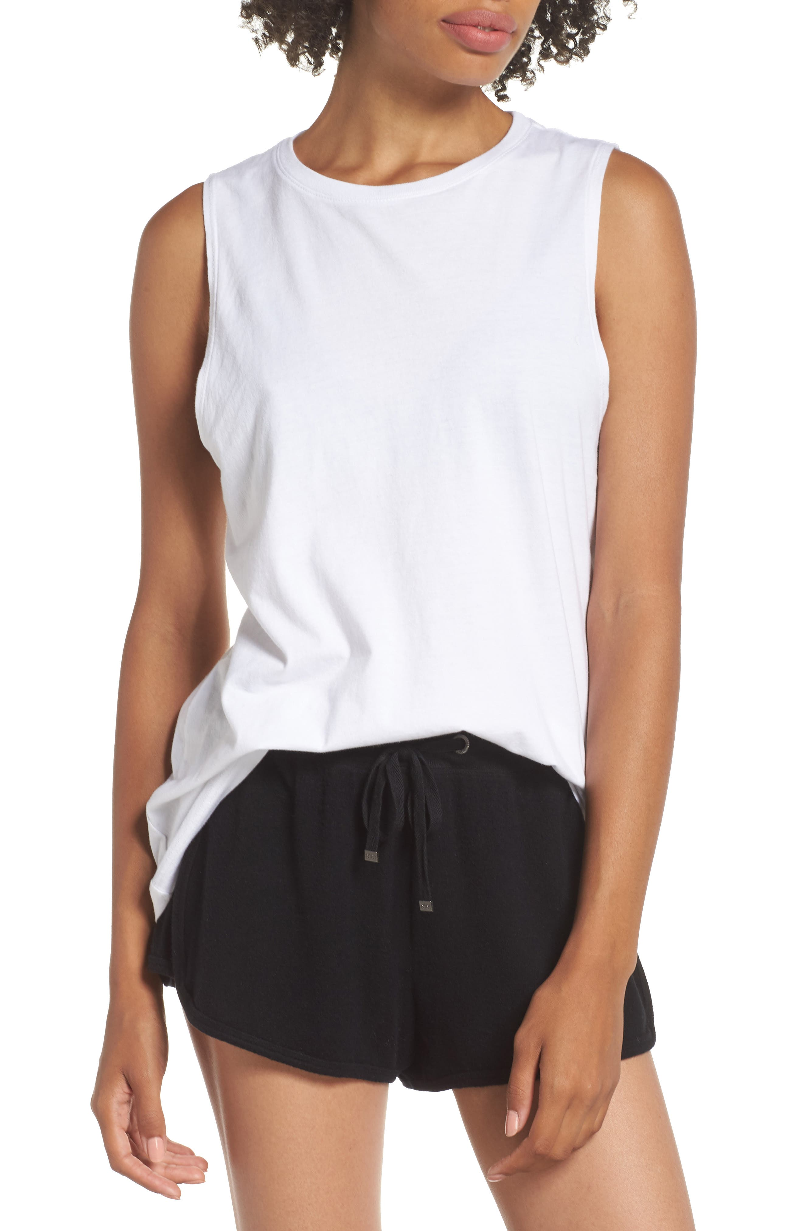 Richer Poorer Muscle Tank, White