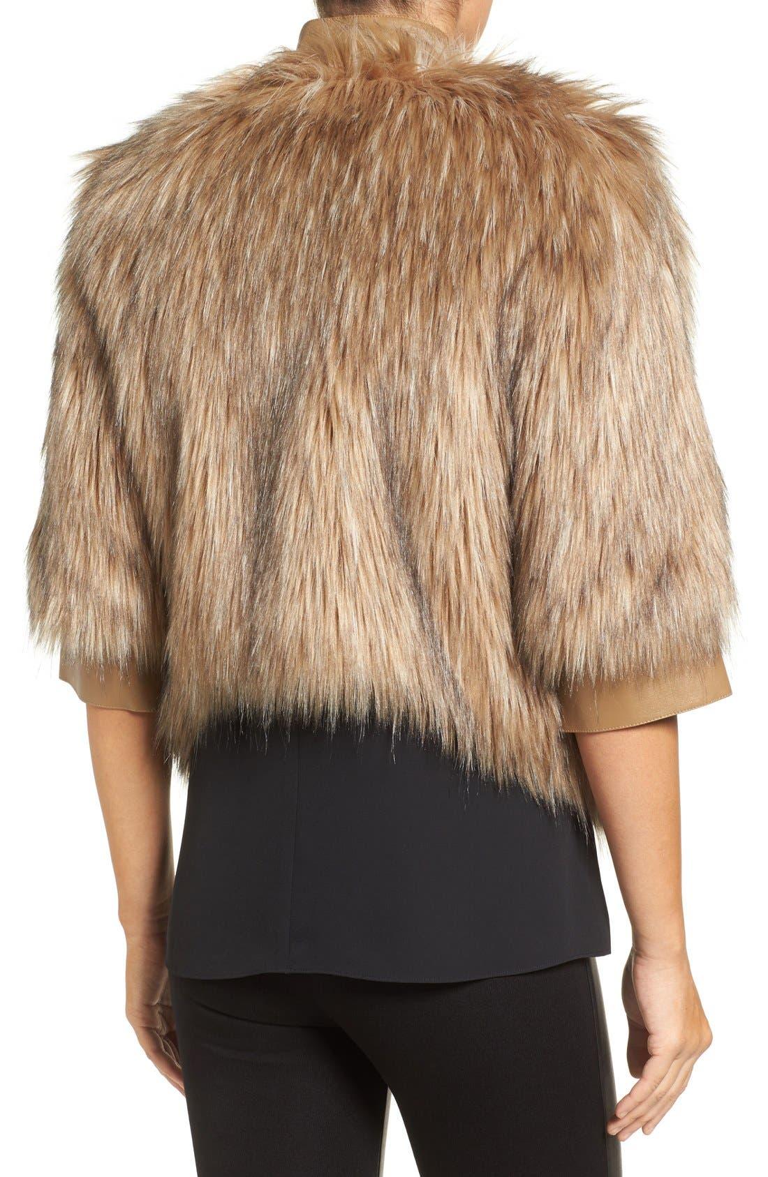 Faux Fur Jacket,                             Alternate thumbnail 2, color,                             250