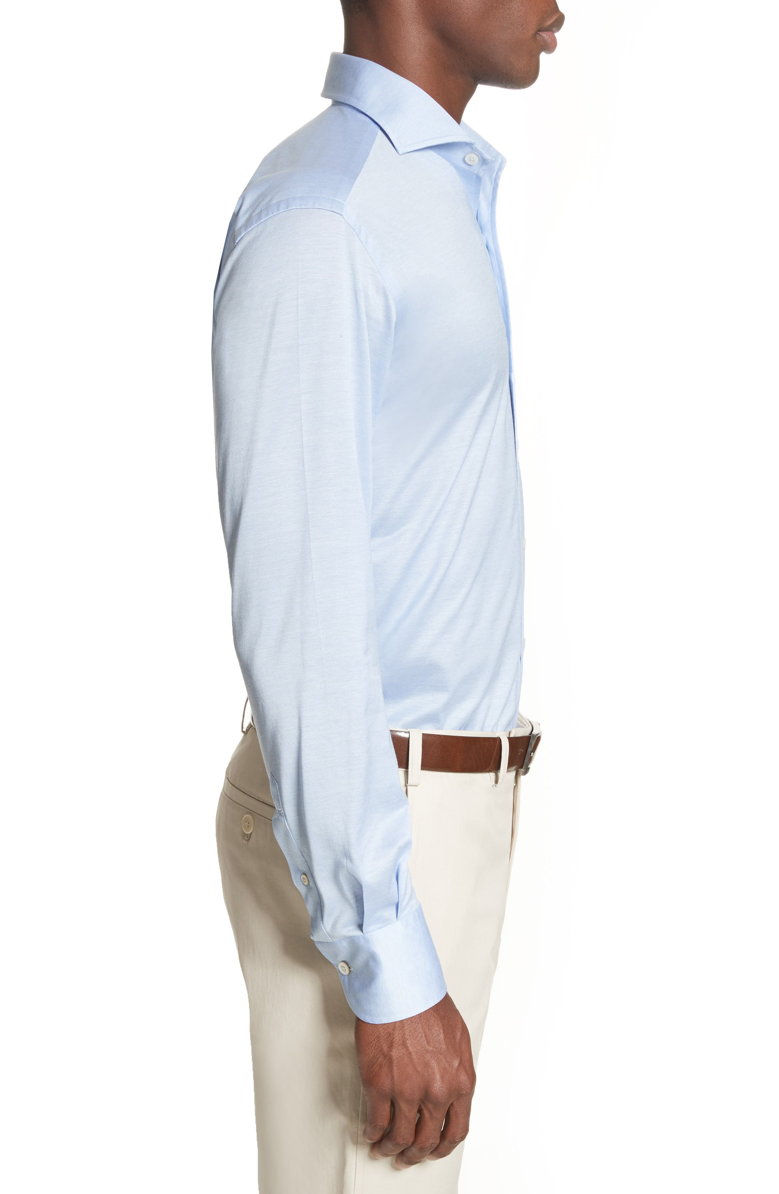 Slim Fit Solid Sport Shirt,                             Alternate thumbnail 3, color,                             450