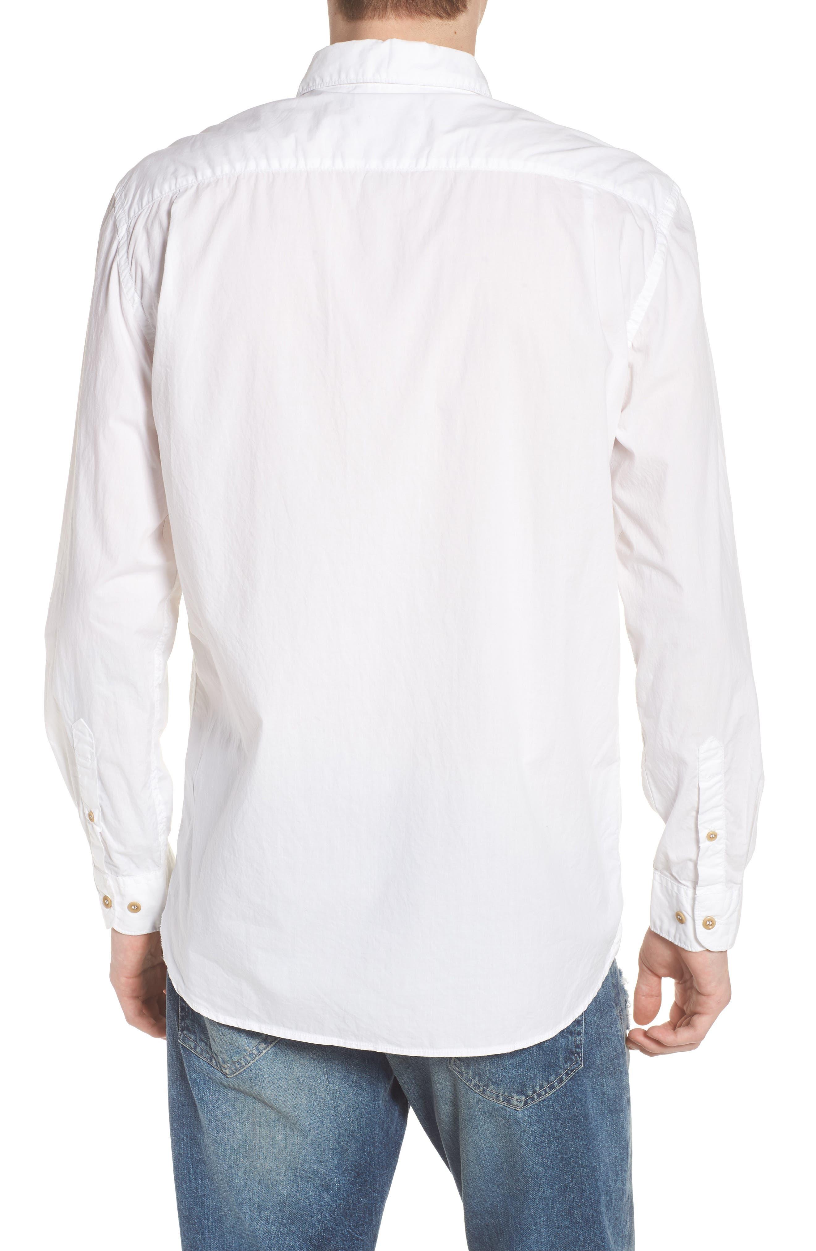 Regular Fit Poplin Sport Shirt,                             Alternate thumbnail 5, color,