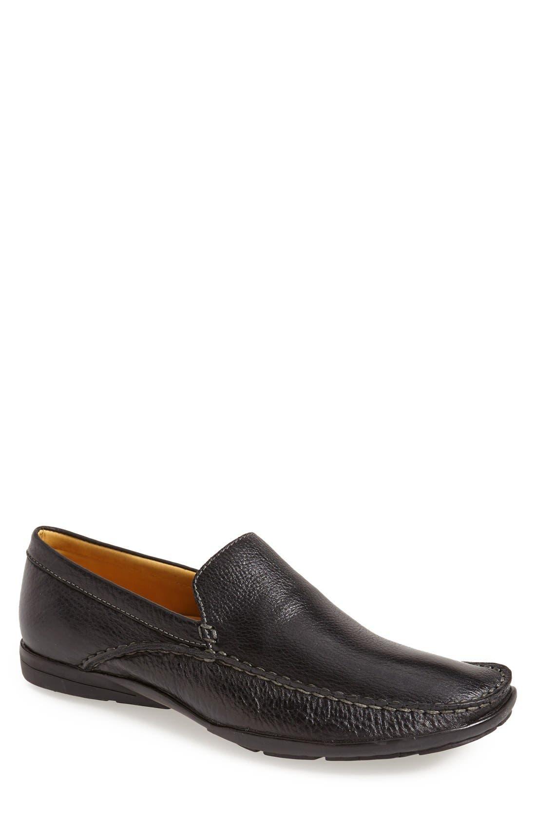 'Dillon' Loafer,                         Main,                         color, BLACK