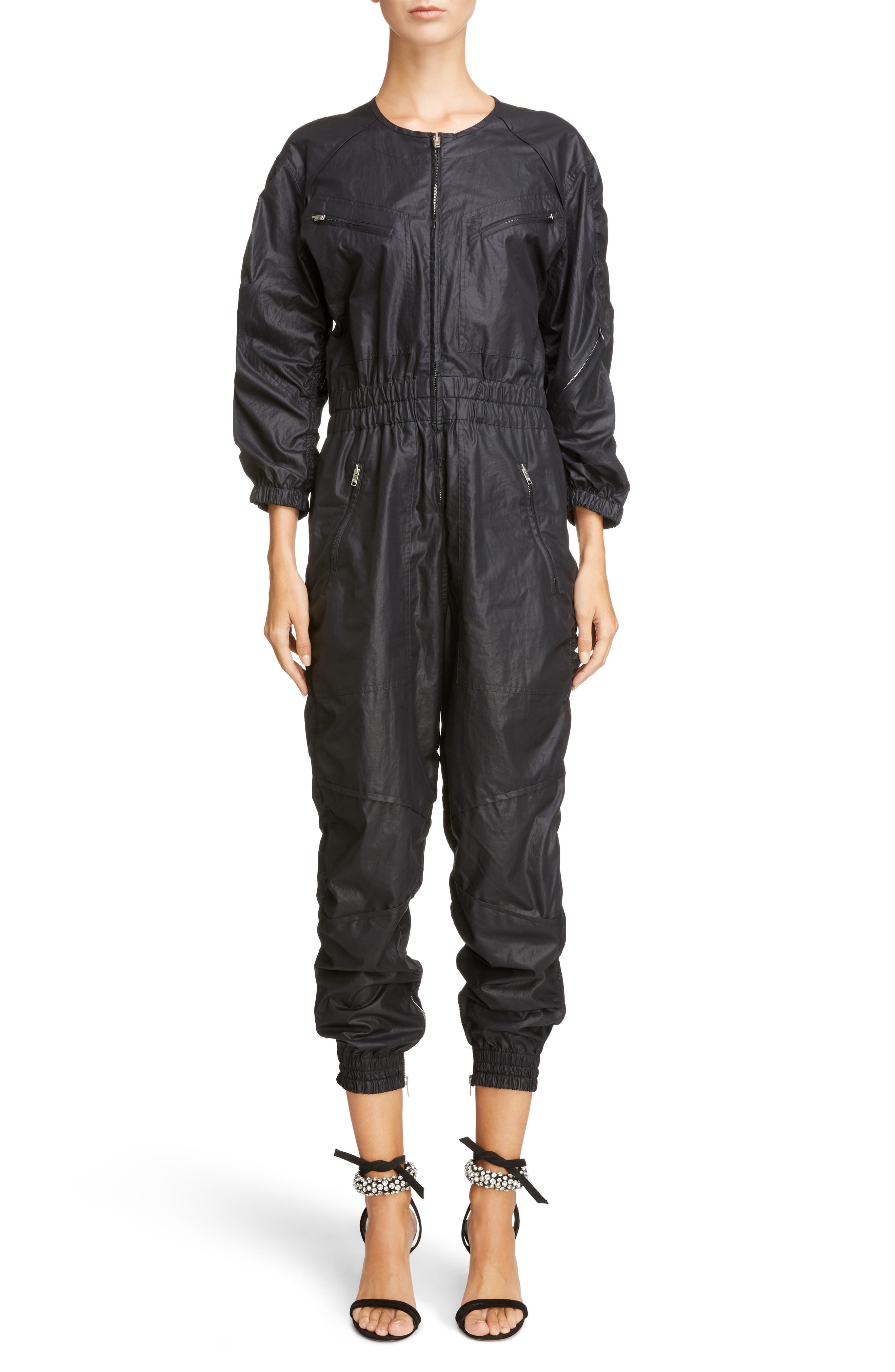 Coated Jumpsuit,                         Main,                         color, 001
