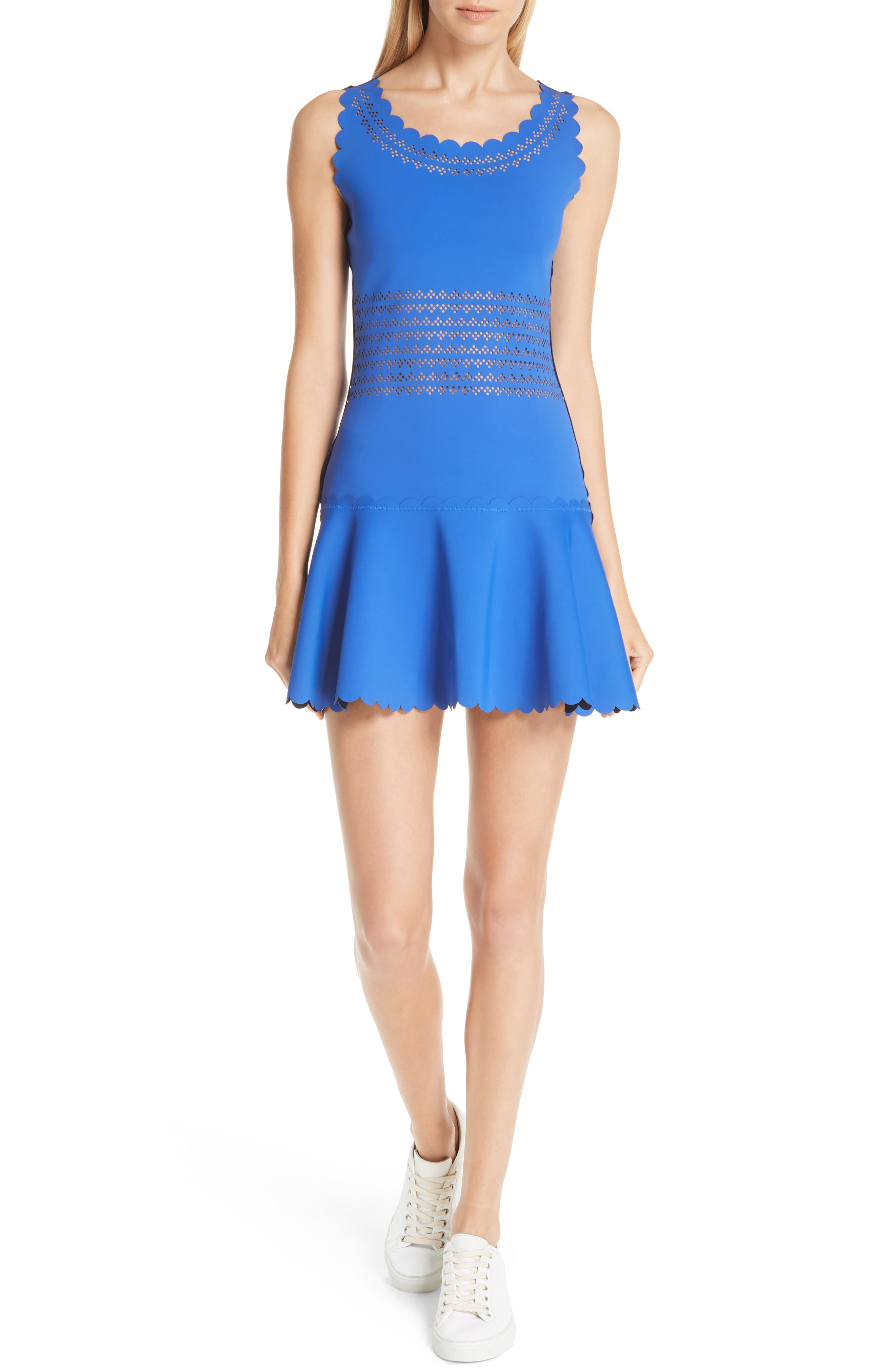 Center Court Tennis Dress,                         Main,                         color, BLUE