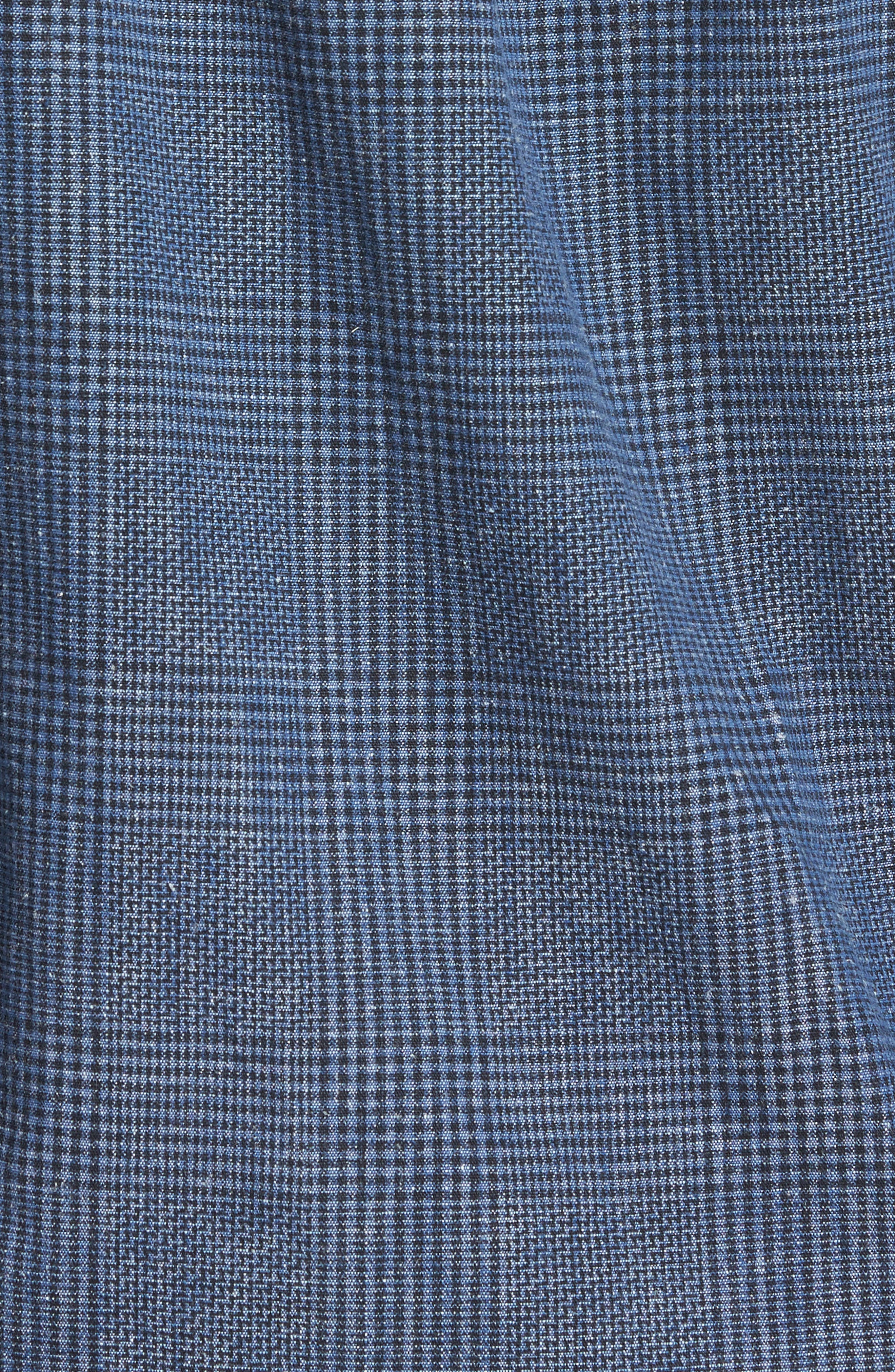 Almeria Standard Fit Plaid Sport Shirt,                             Alternate thumbnail 5, color,