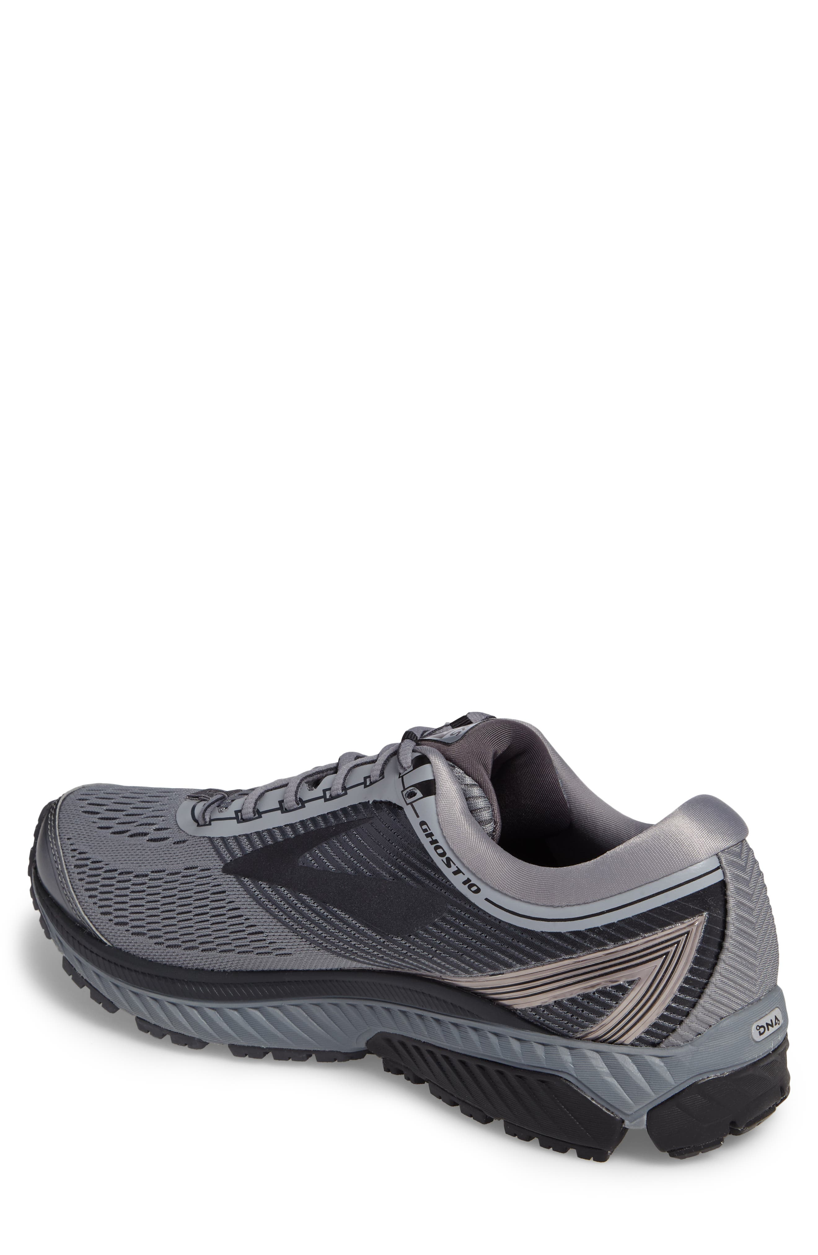 Ghost 10 Running Shoe,                             Alternate thumbnail 2, color,                             GREY/ METALLIC CHARCOAL/ EBONY