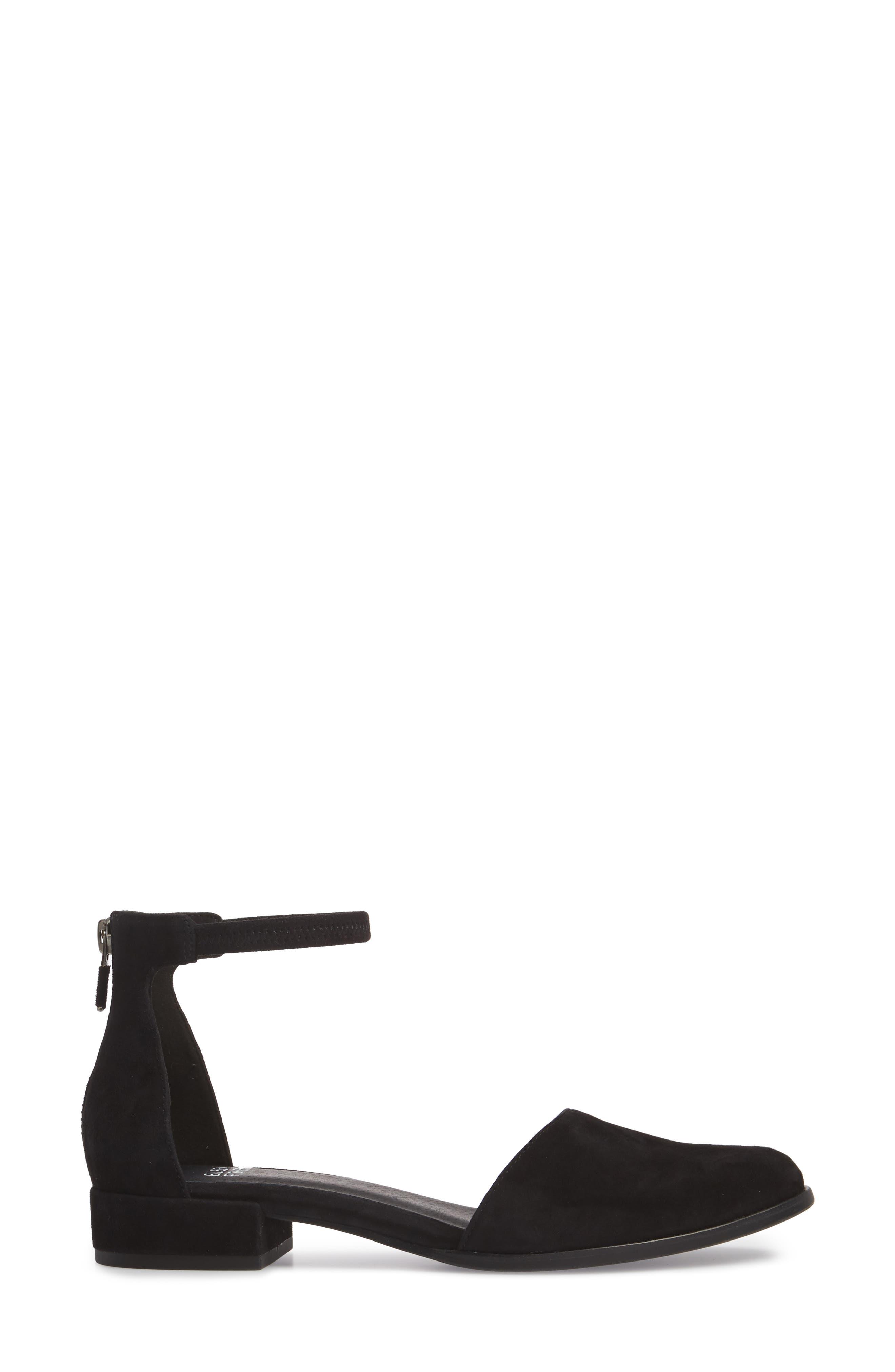 Hutton Ankle Strap Shoe,                             Alternate thumbnail 3, color,                             001