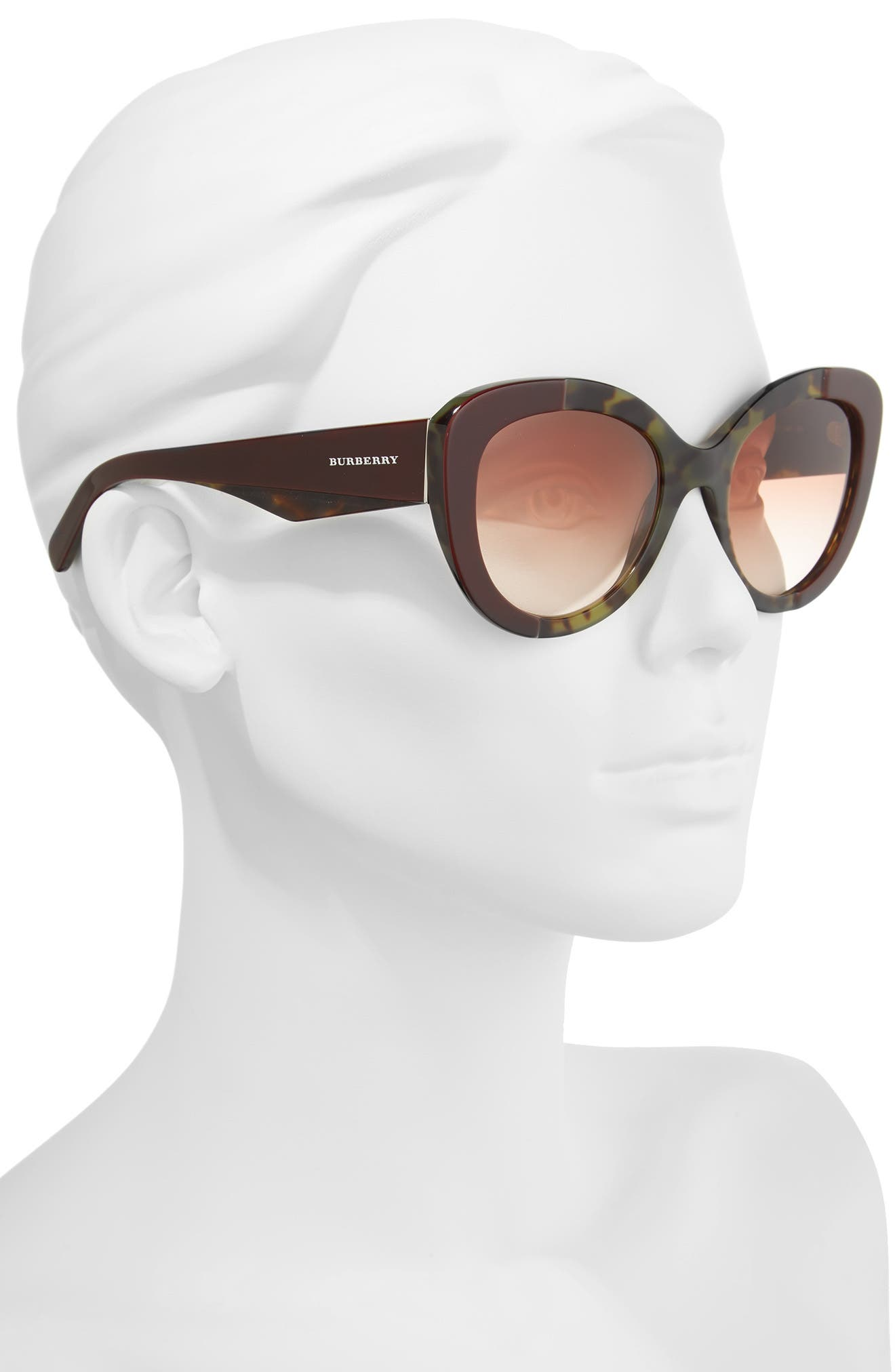 54mm Gradient Butterfly Sunglasses,                             Alternate thumbnail 2, color,                             600