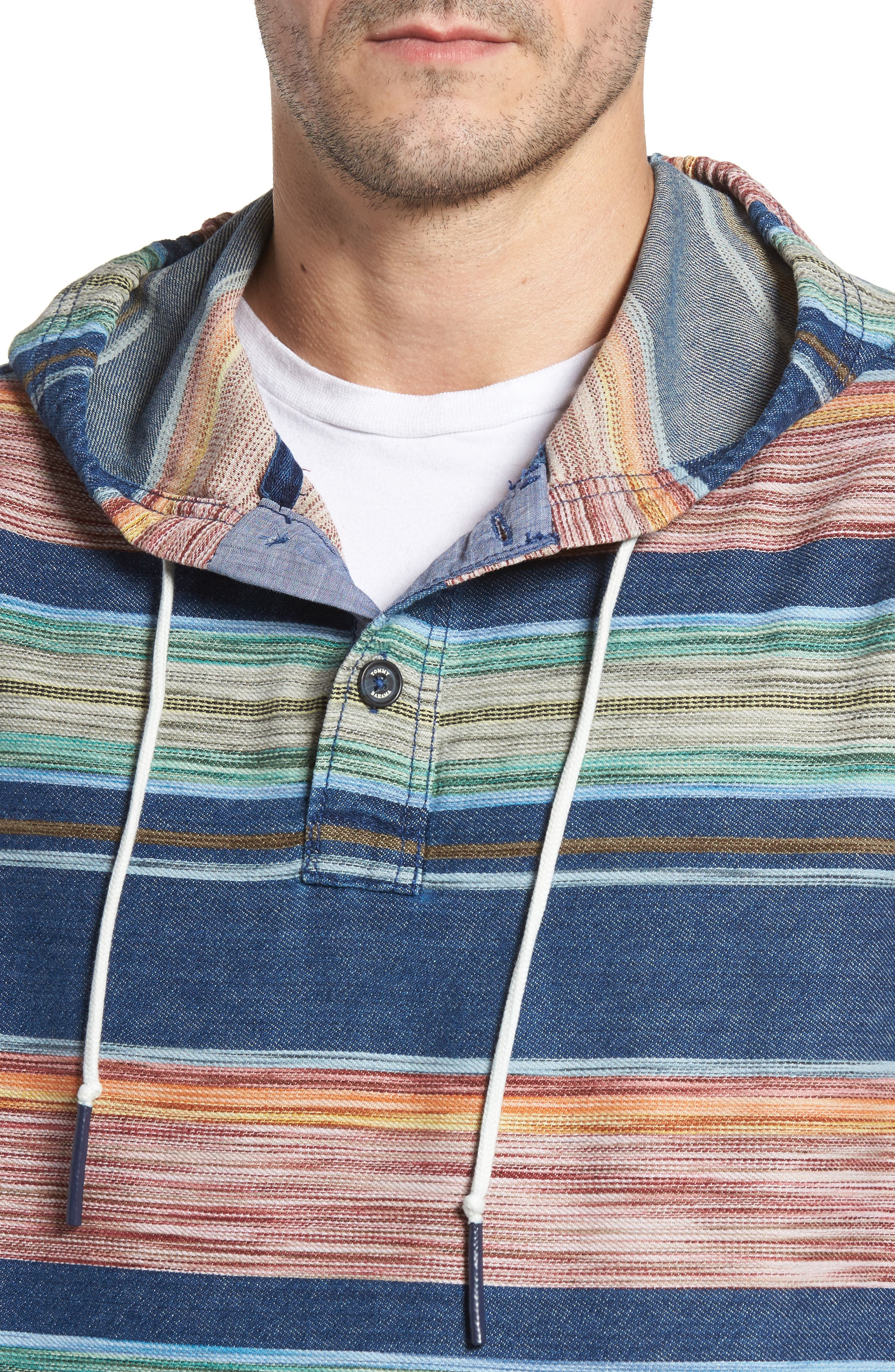 Bahia Baja Stripe Hoodie,                             Alternate thumbnail 4, color,