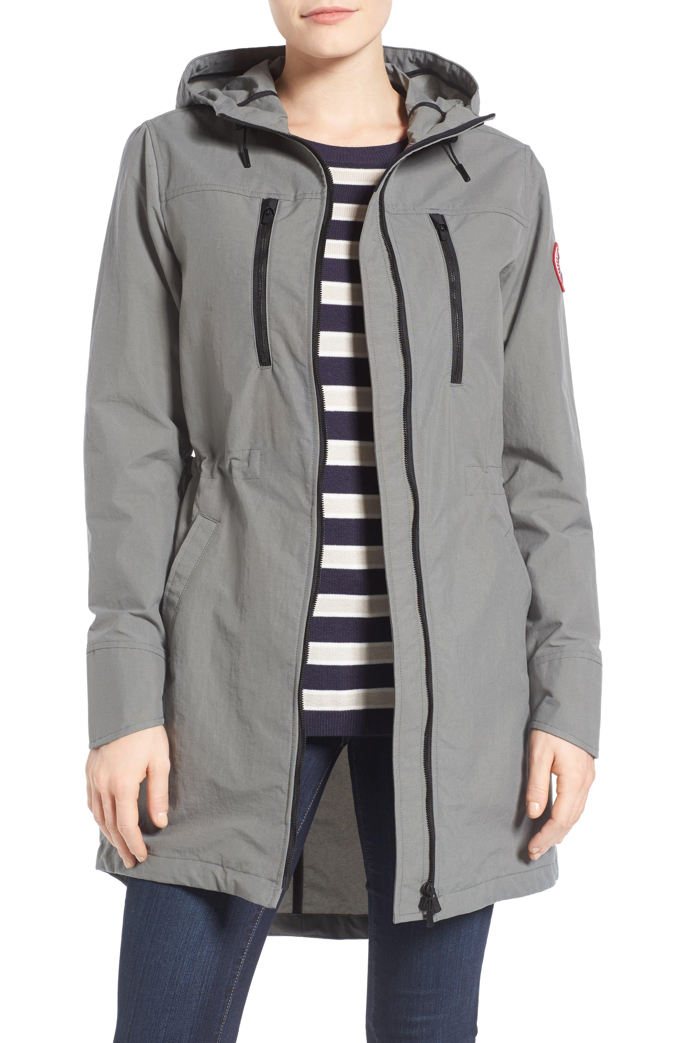 Brossard Hooded Drop Tail Jacket,                             Main thumbnail 4, color,