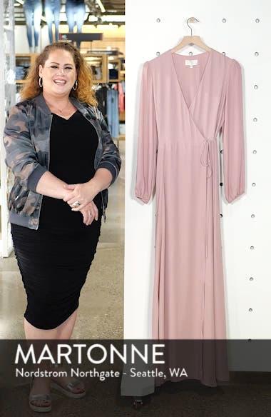 Lila Long Sleeve Wrap Gown, sales video thumbnail