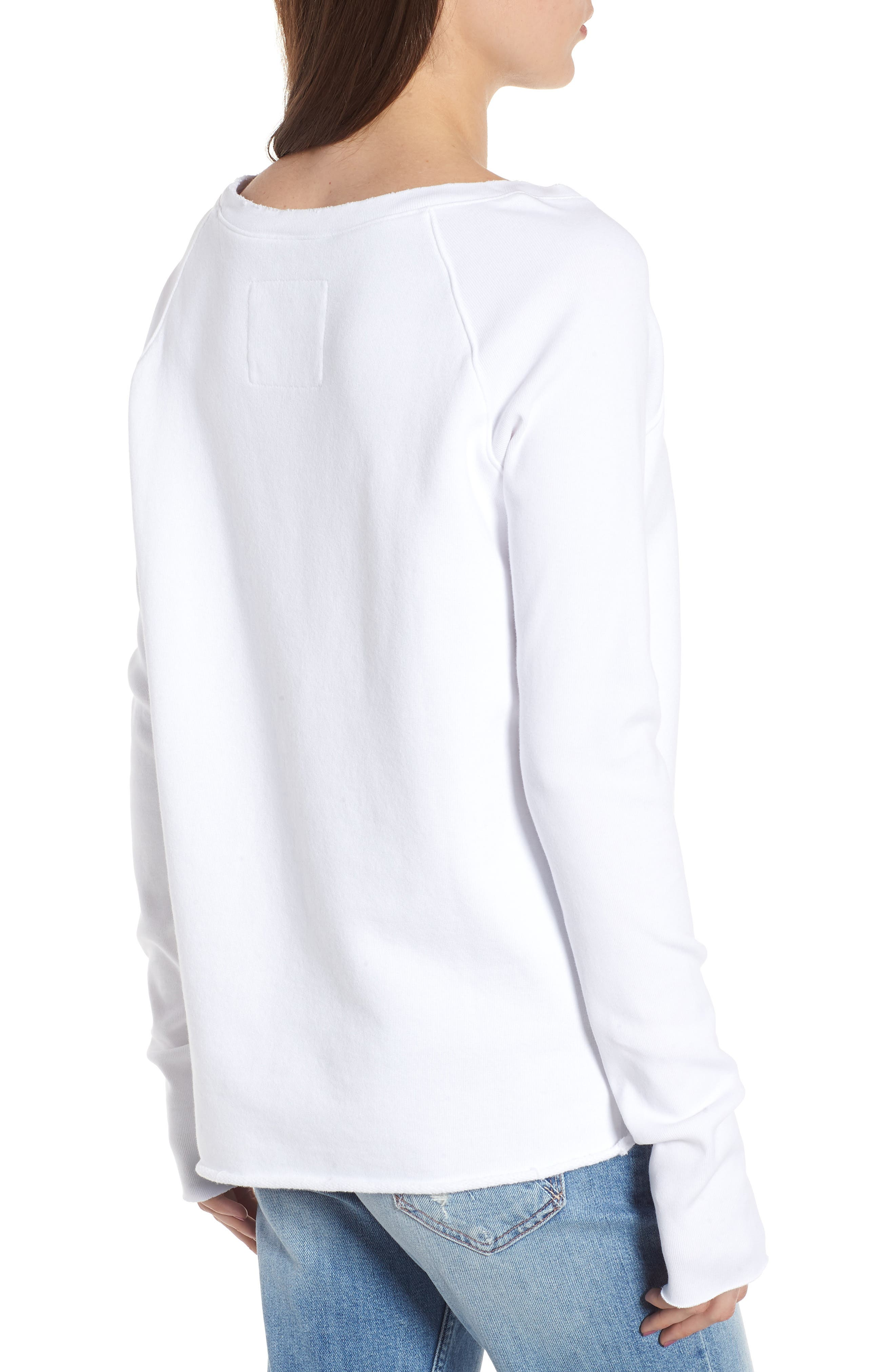 Asymmetric Sweatshirt,                             Alternate thumbnail 2, color,                             WHITEOUT