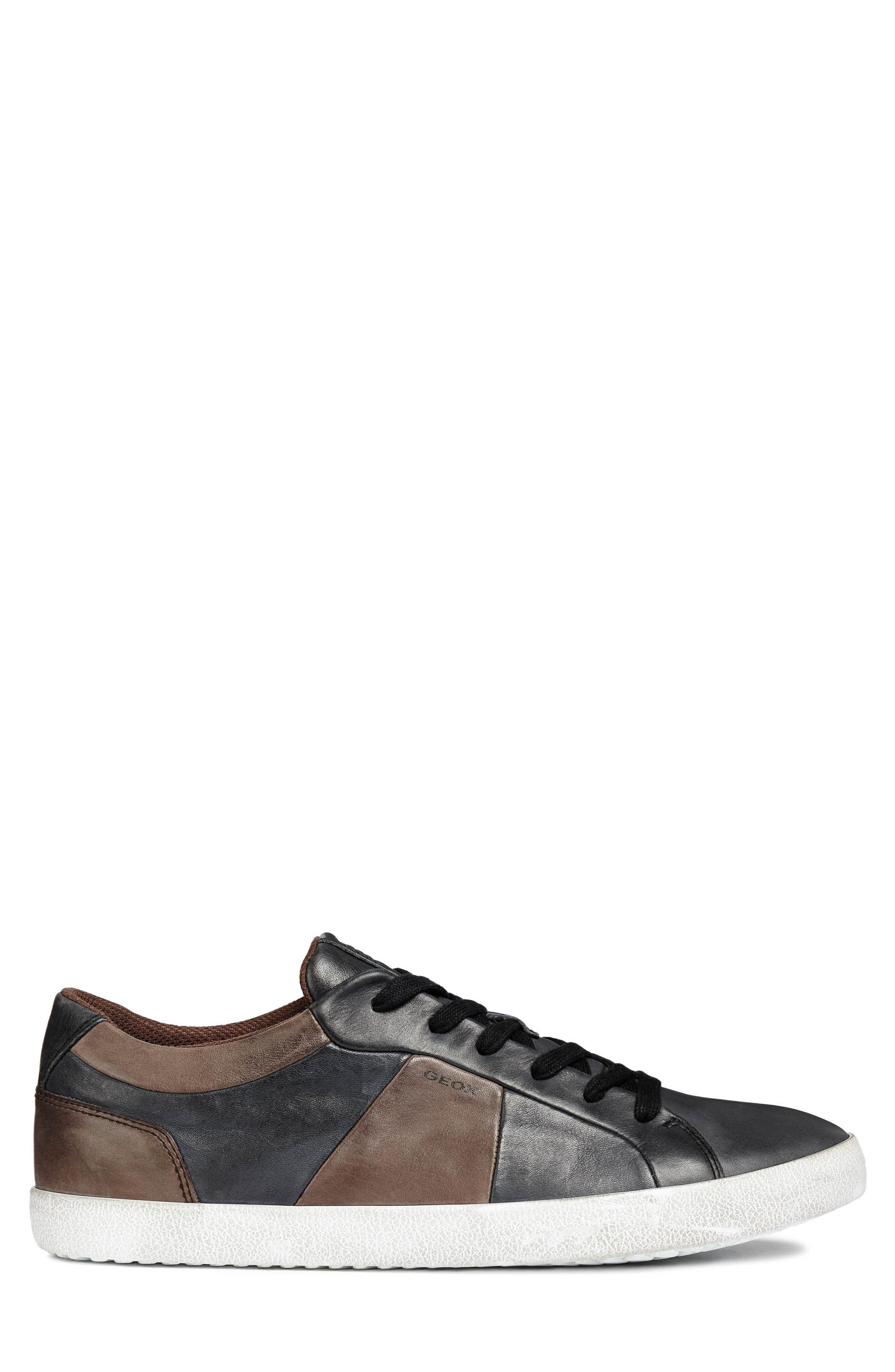 Smart 85 Low Top Sneaker,                             Alternate thumbnail 3, color,                             BLACK/ COFFEE LEATHER