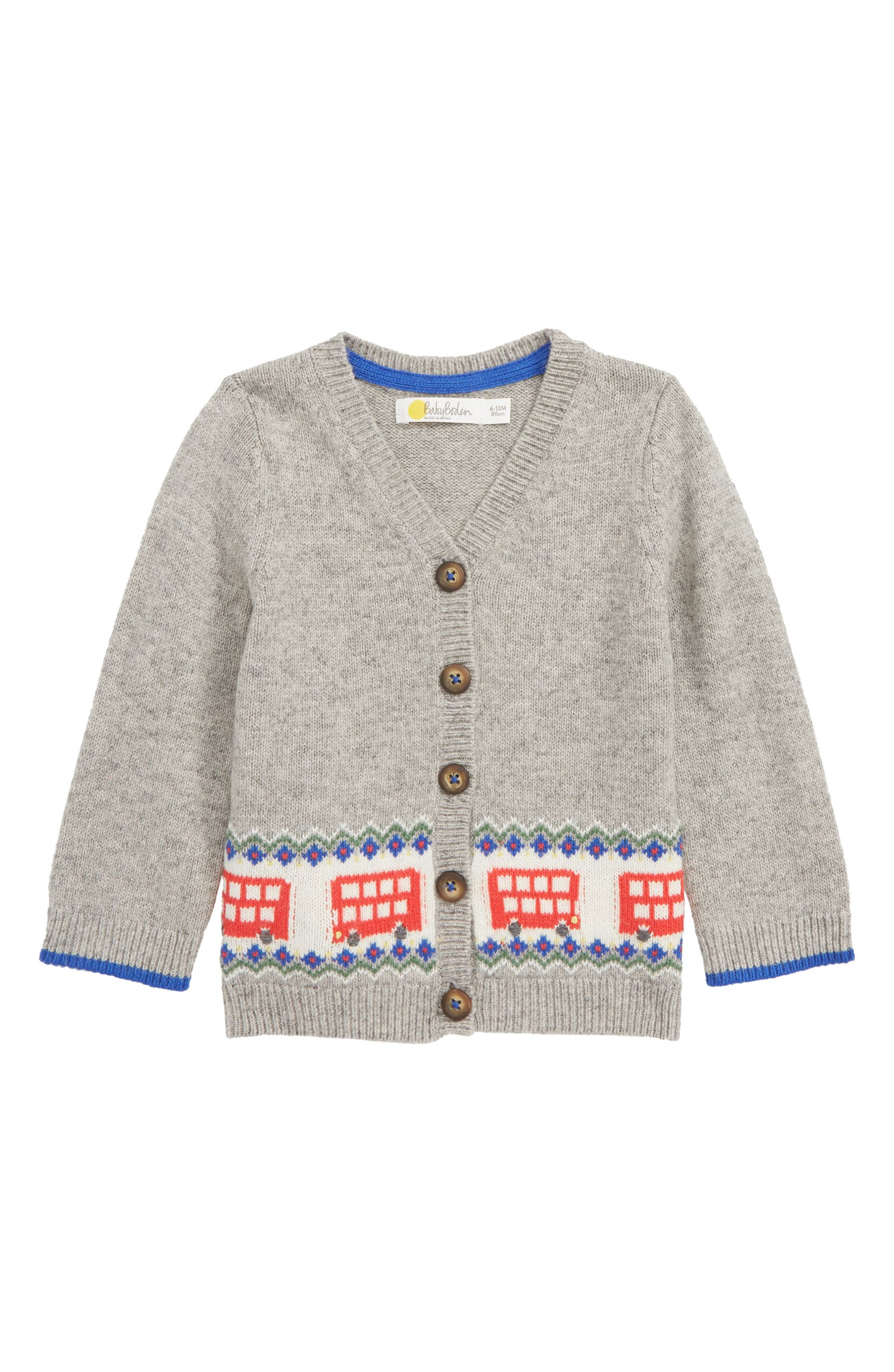 Mini Boden Buses Fair Isle Cardigan Baby Nordstrom