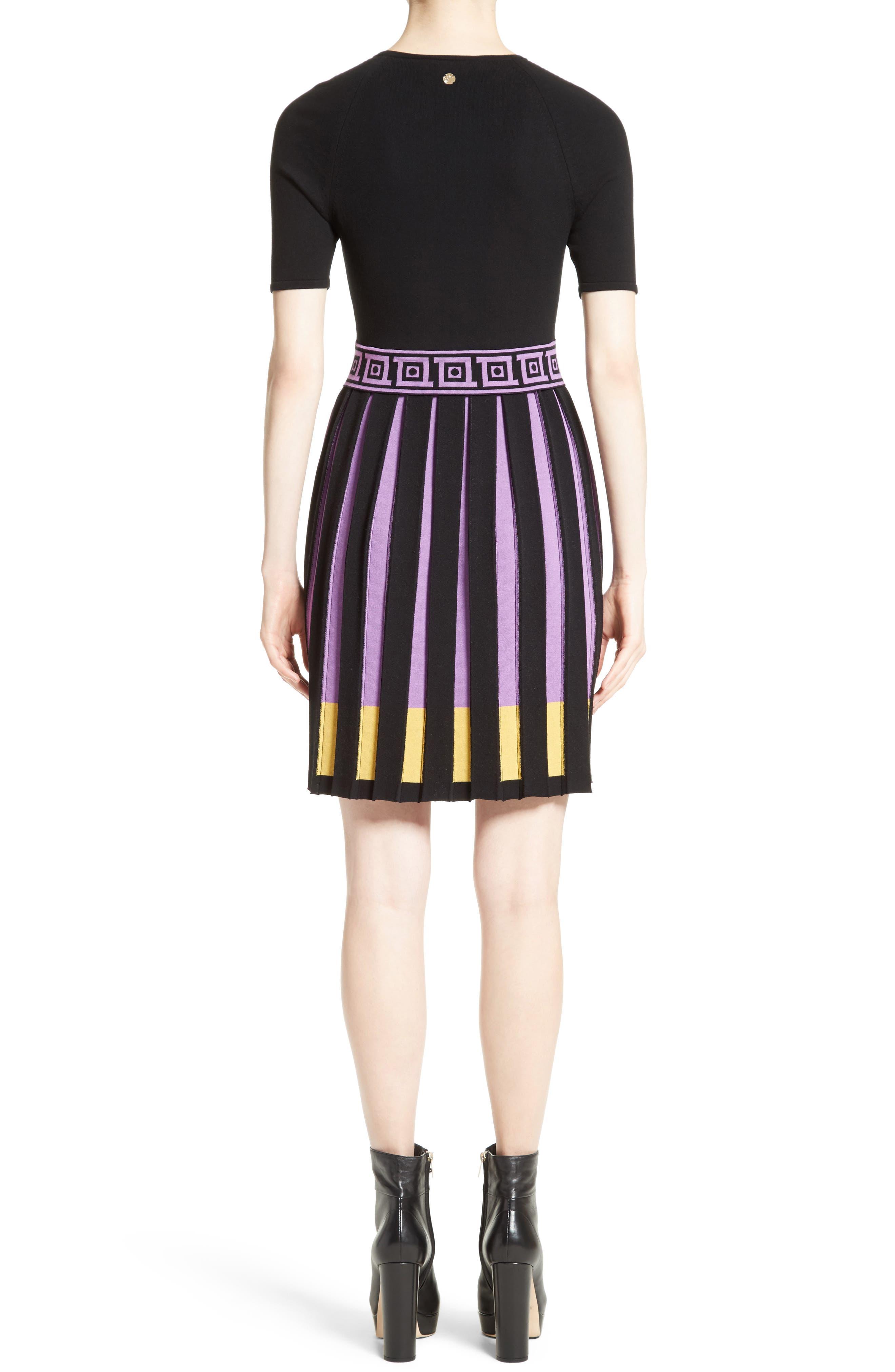 Knit Fit & Flare Dress,                             Alternate thumbnail 2, color,                             009