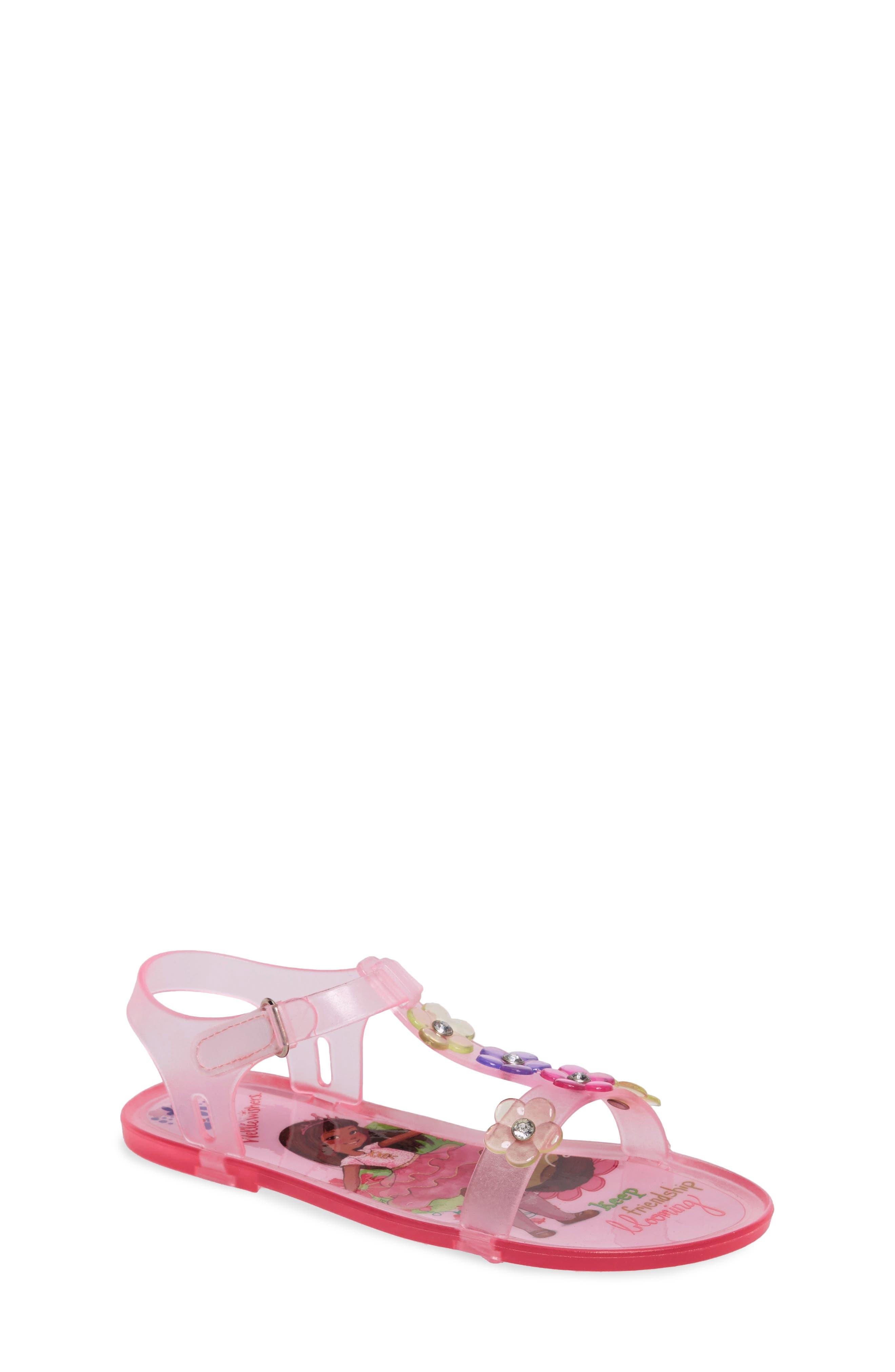 Ashlyn Flower Jelly Sandal,                             Main thumbnail 1, color,                             652