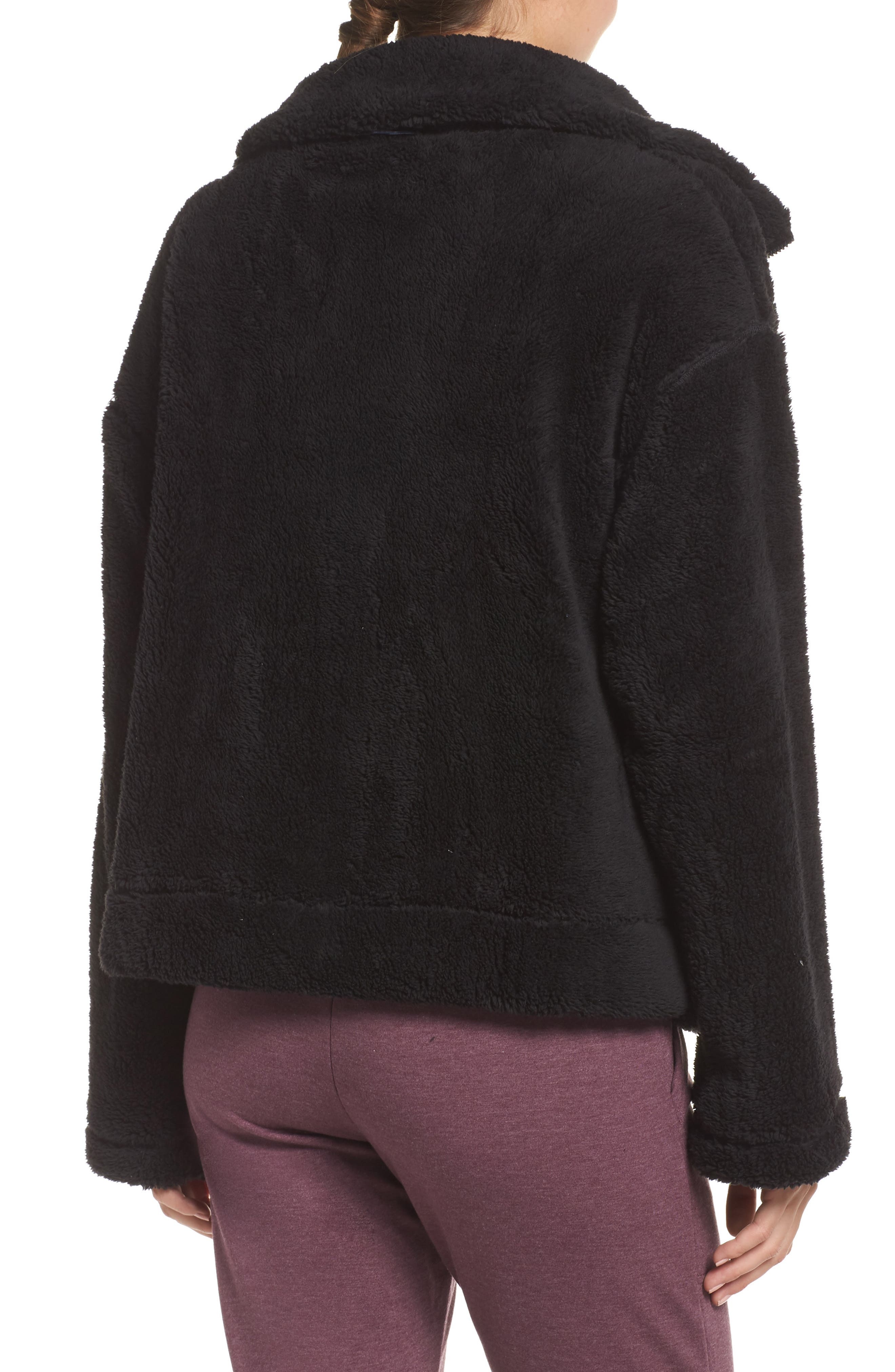 Dazed Fleece Jacket,                             Alternate thumbnail 2, color,                             BLACK