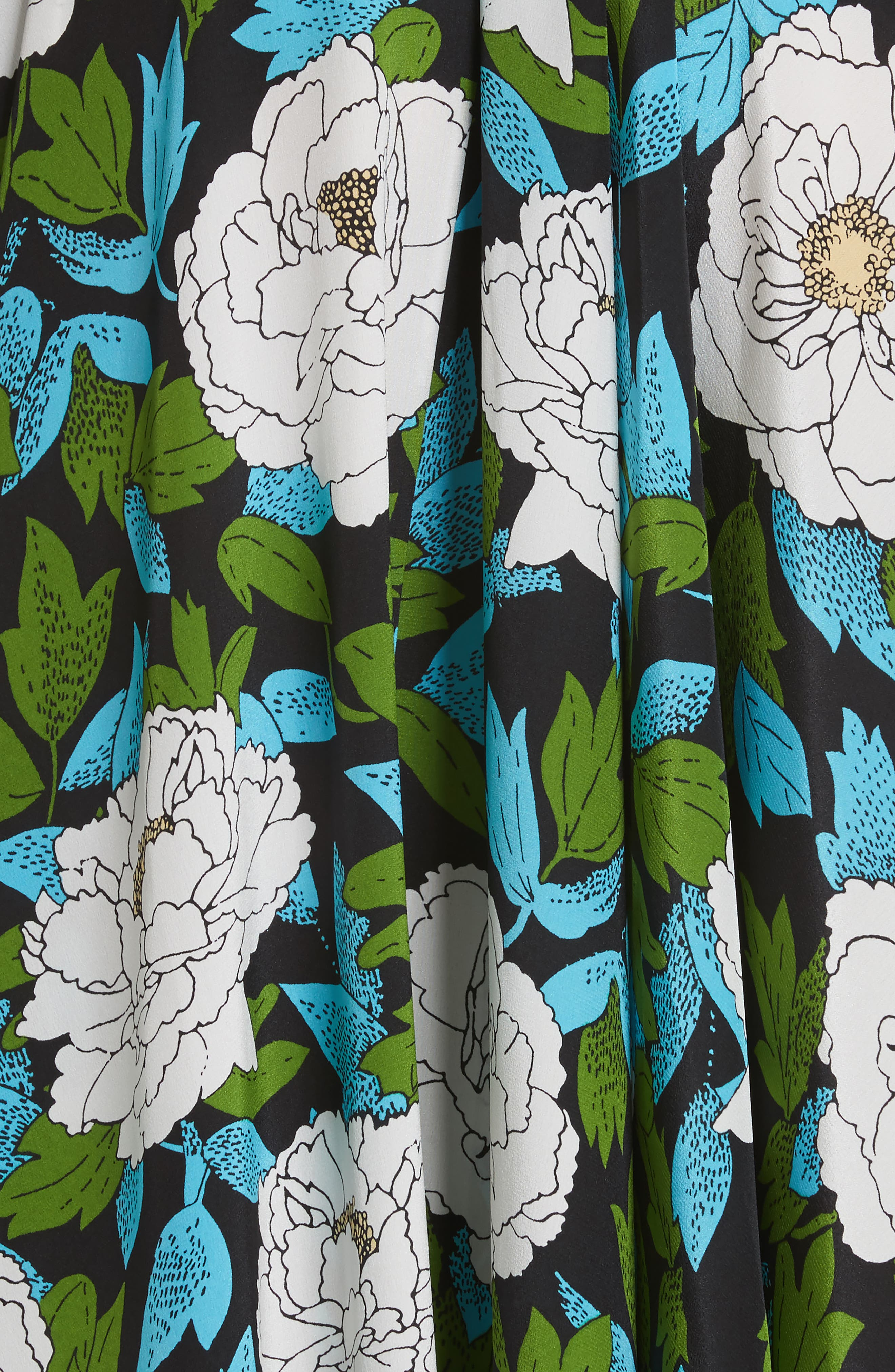 Diane von Furstenberg Floral Silk Maxi Dress,                             Alternate thumbnail 5, color,                             389