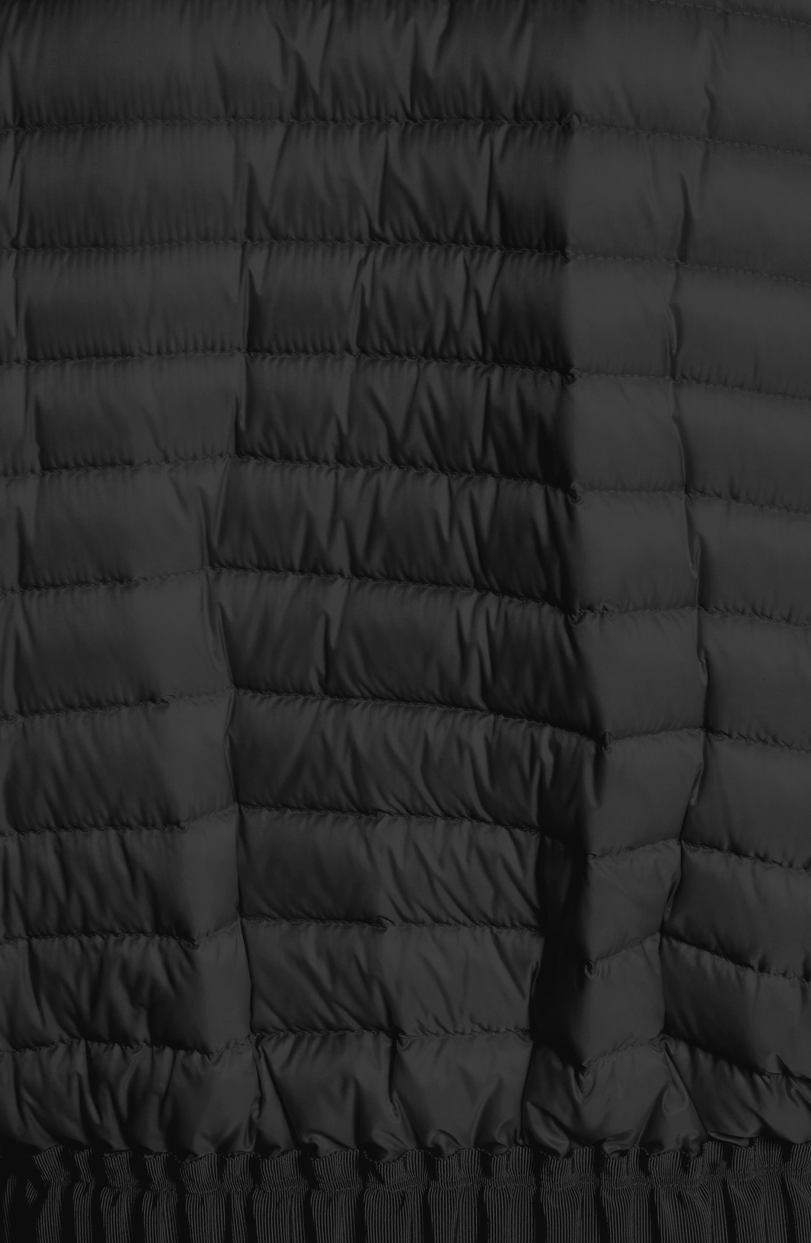 Barytine Quilted Bomber Jacket,                             Alternate thumbnail 6, color,                             BLACK